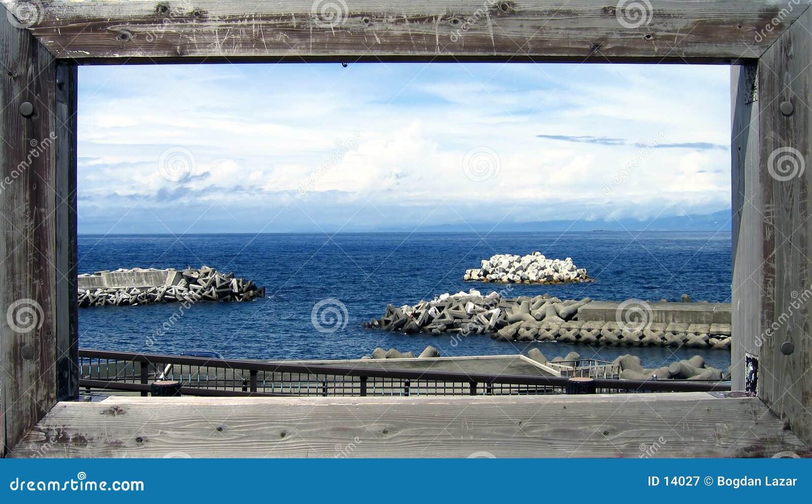 Prentbriefkaar van de oceaan