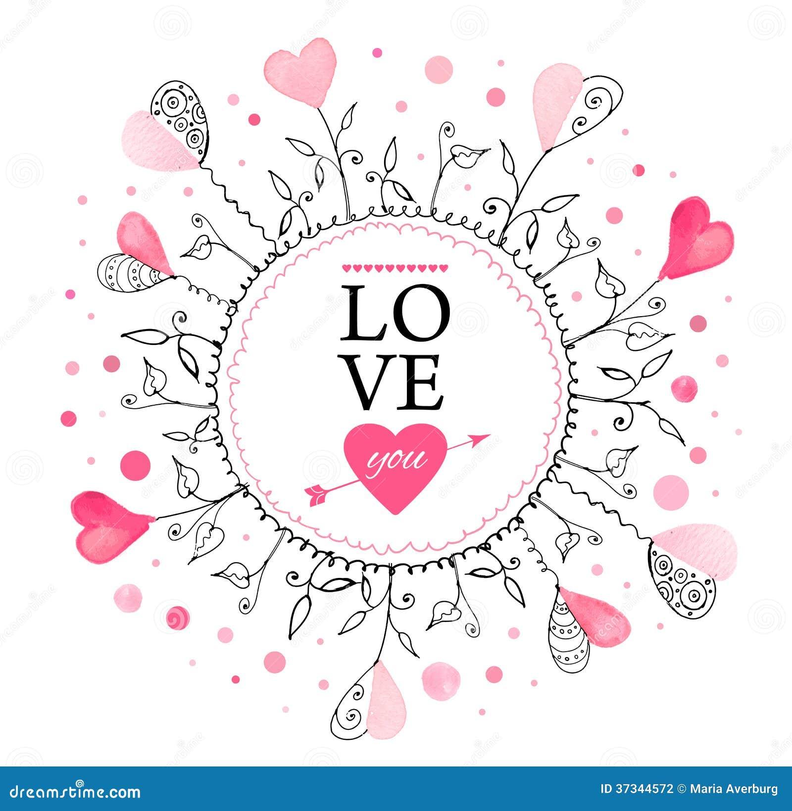 Prentbriefkaar voor de dag van Valentine
