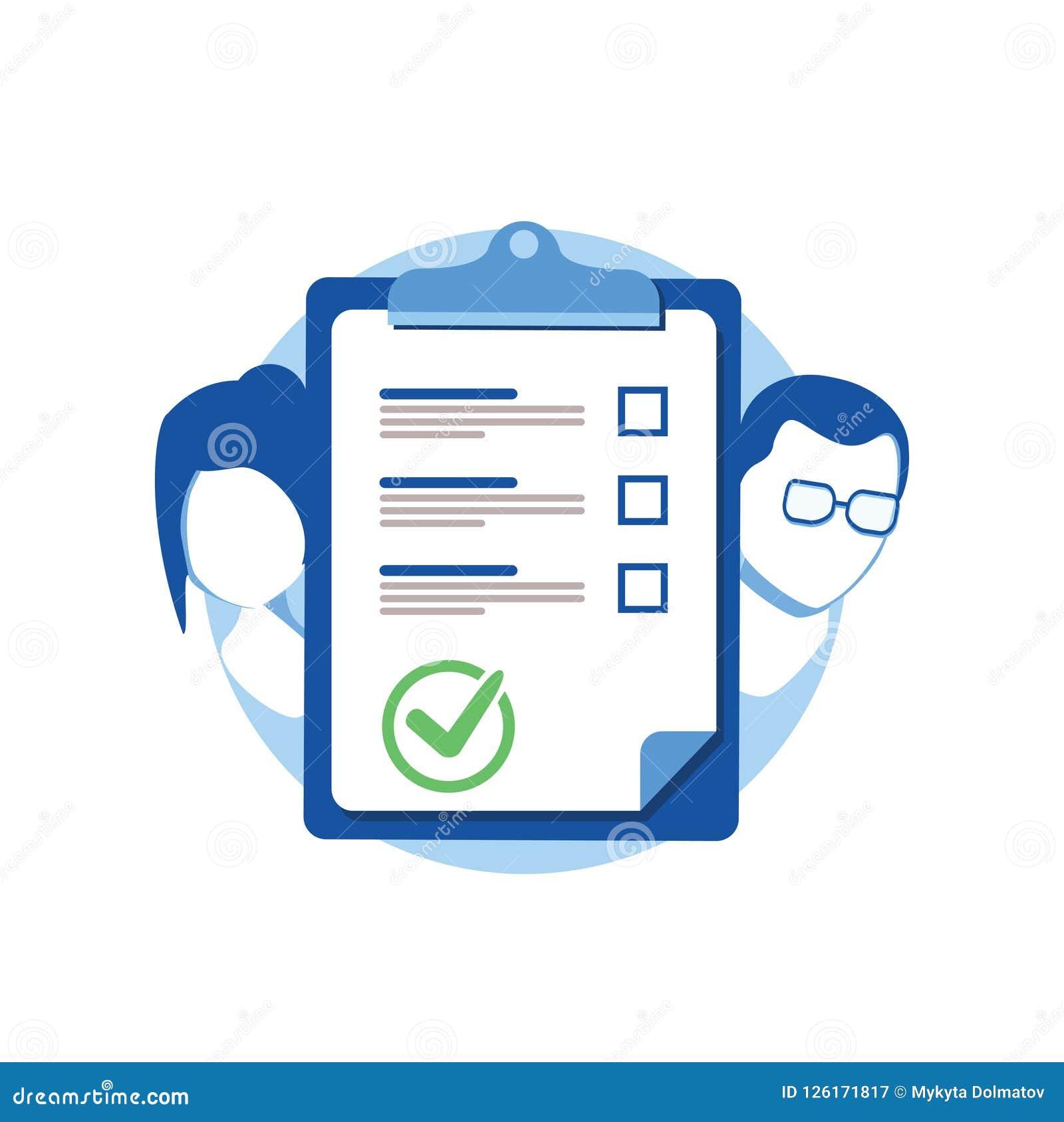 Prenuptial Agreement Document Couple Divorce Check List Clipboard