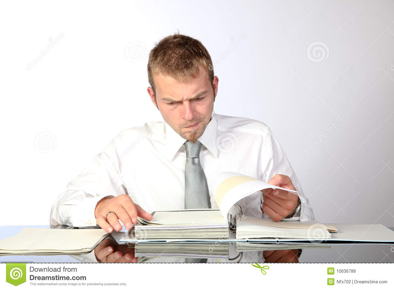 Preoccupied Reviewing Documents Royalty Free Stock Images - Image ...