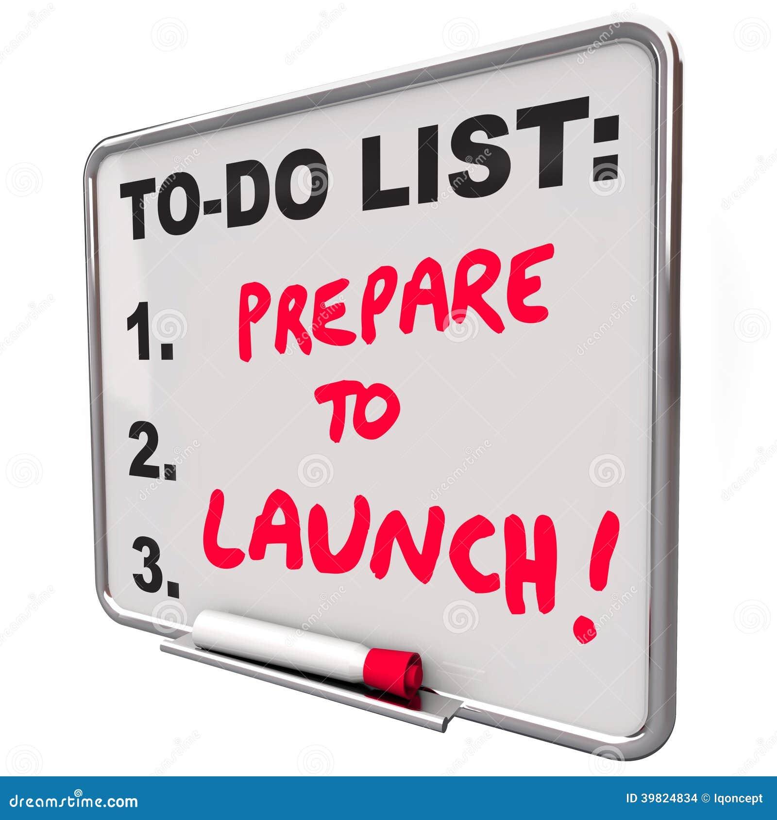 Prepárese para poner en marcha al tablero seco del borrado para hacer el negocio de List New Company
