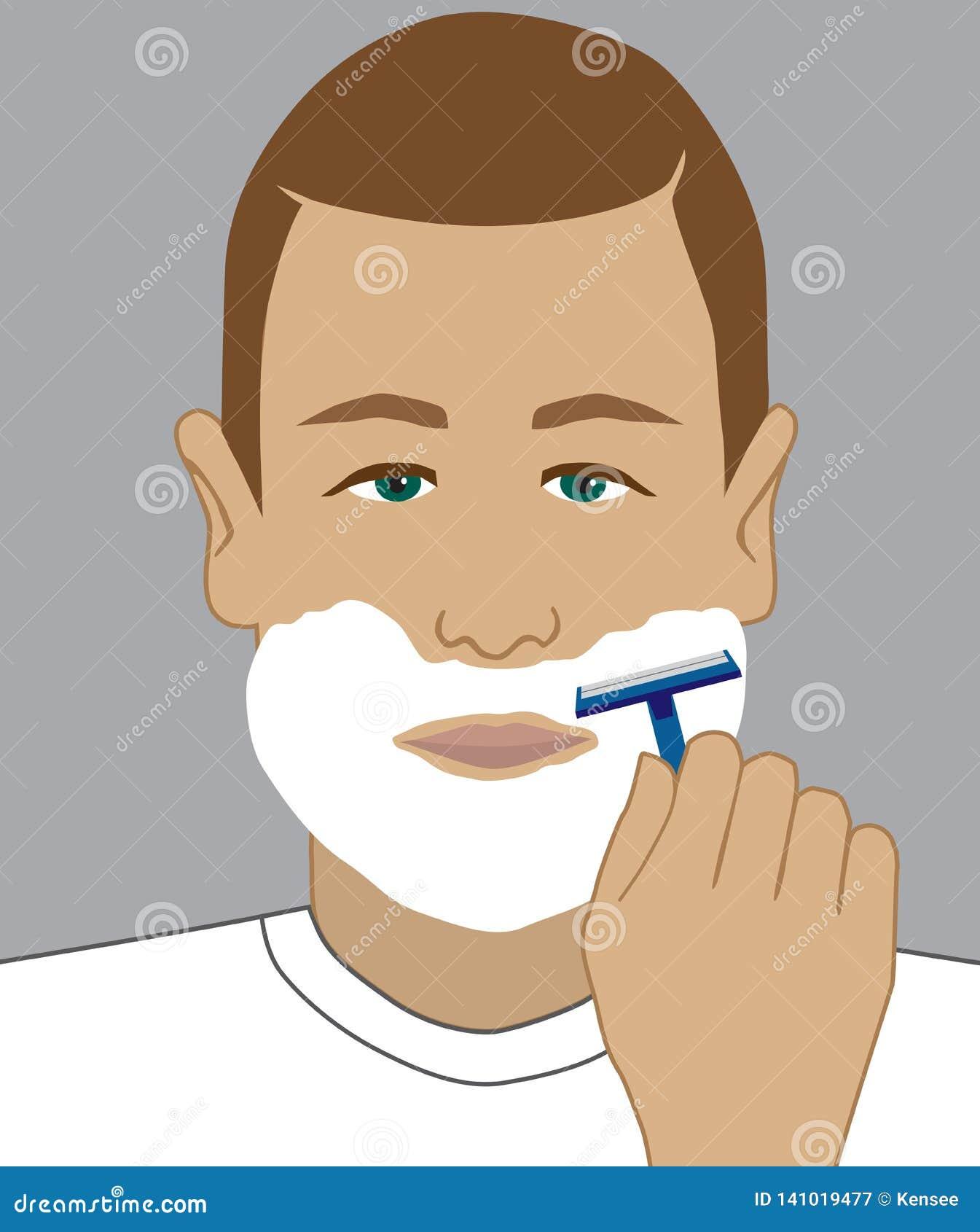 Preparação barbear