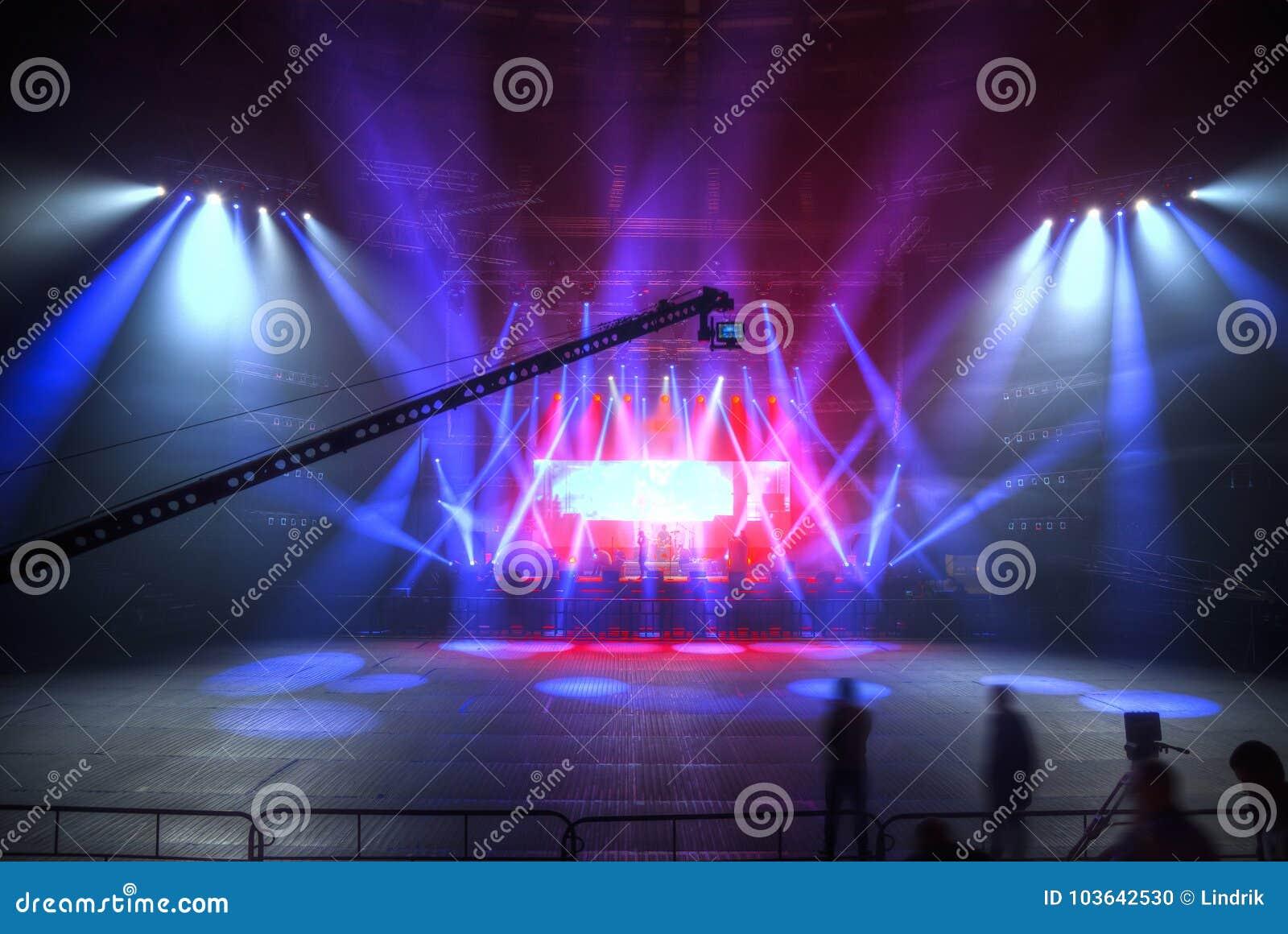 Preparación para un concierto