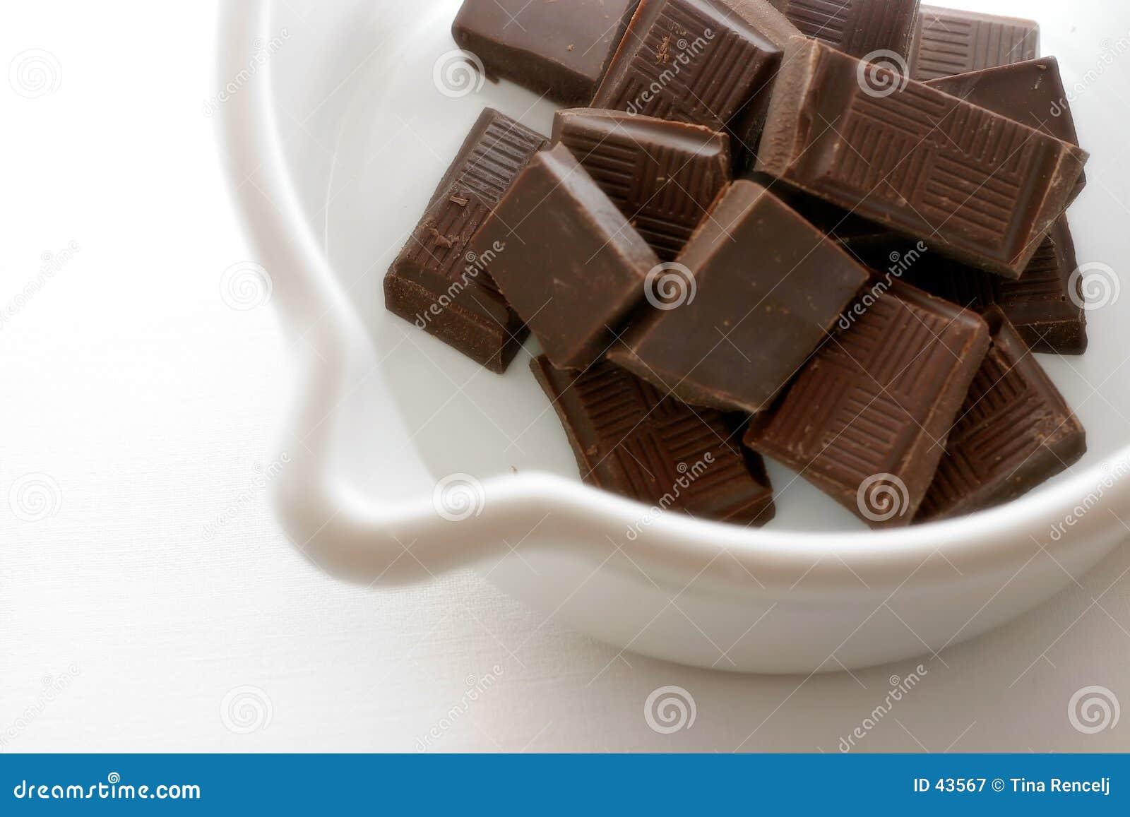 Preparando o chocolate quente mim