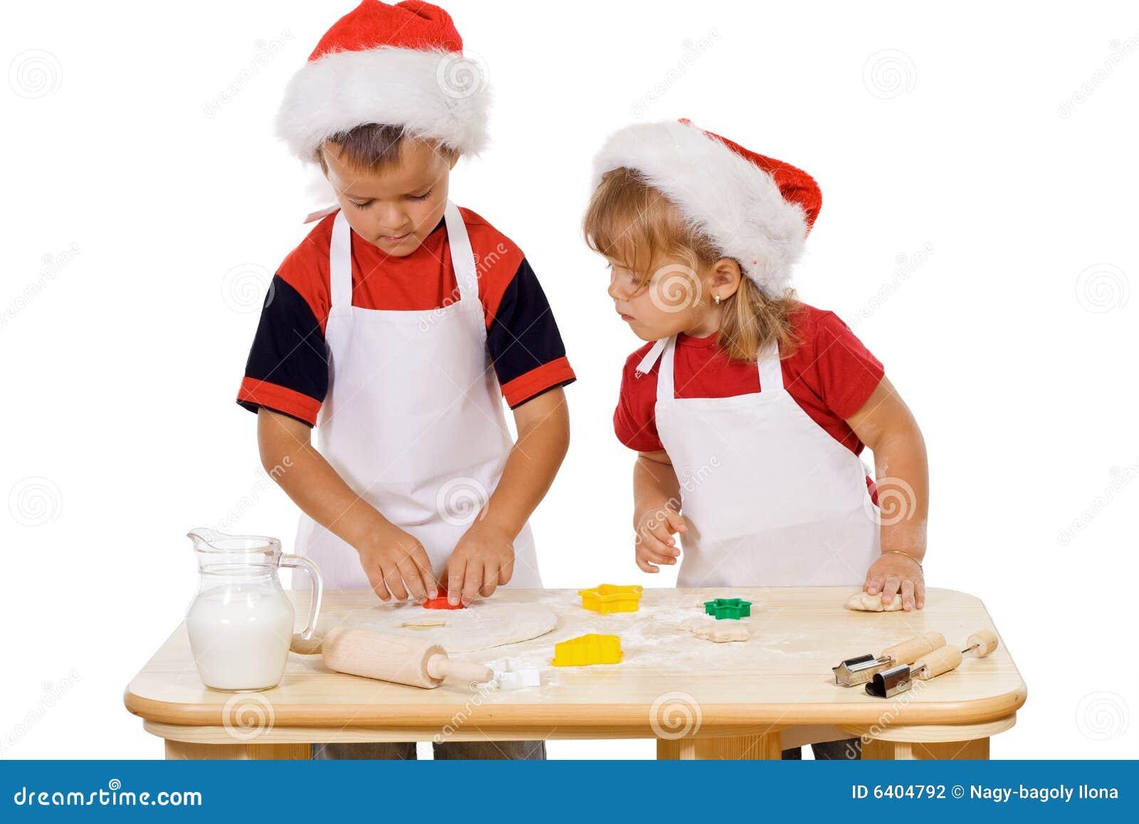 Preparando os bolinhos do Natal