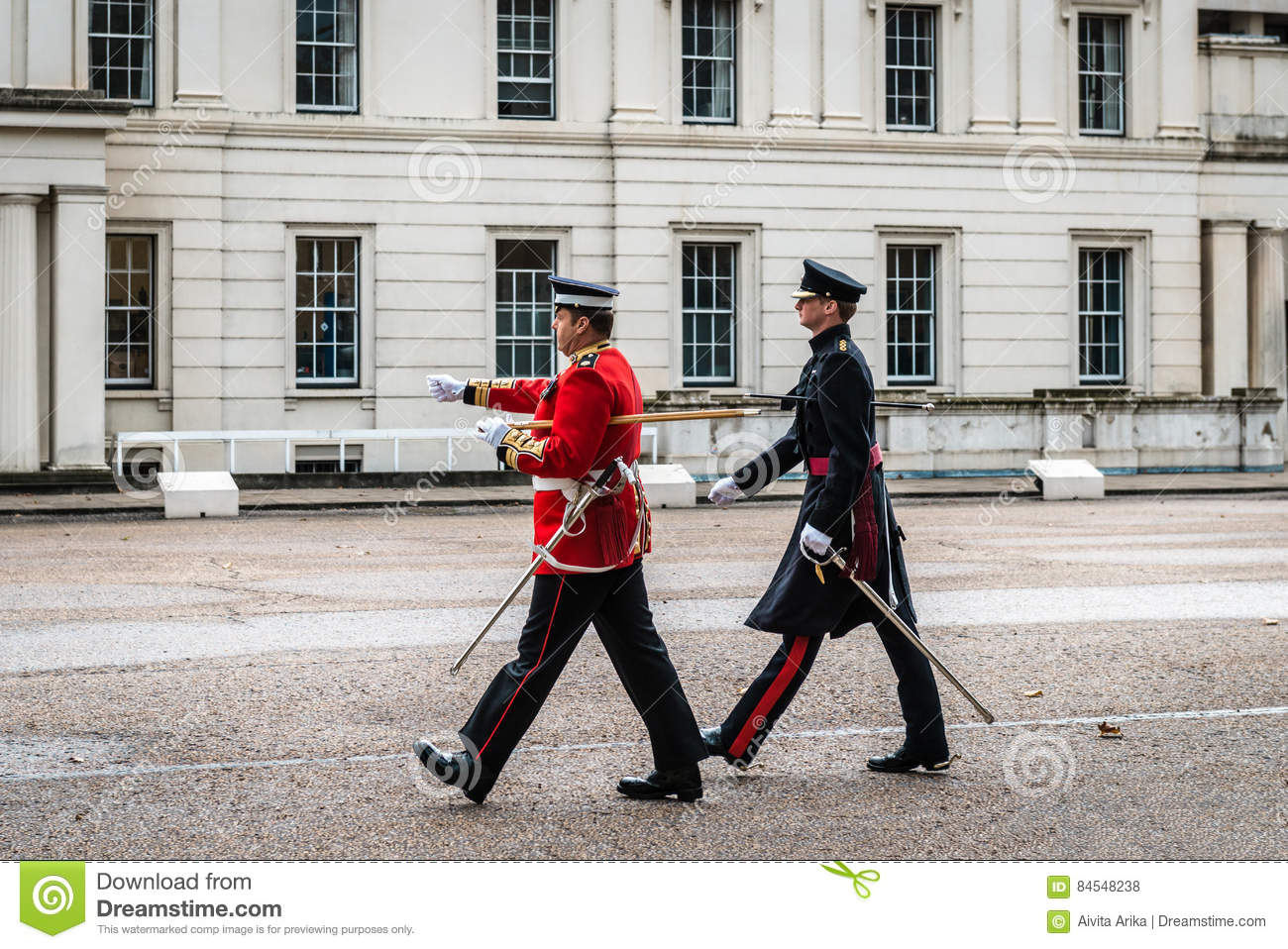 Preparation For Changing The Guard Ceremony In London