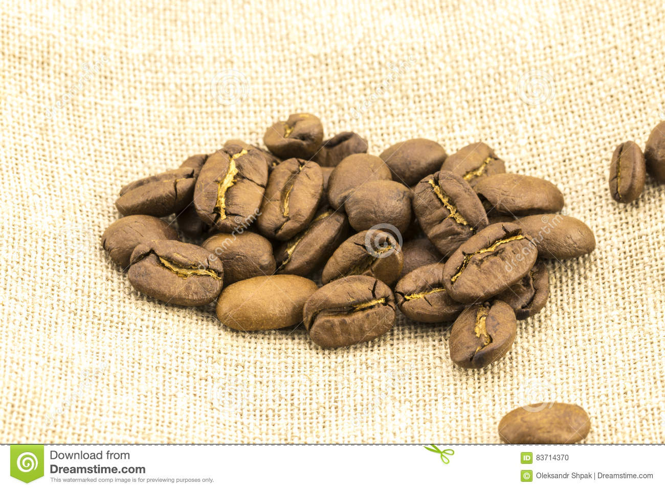 Preparation For A Coffee Menu Is Made From Coffee Beans Stock Photo