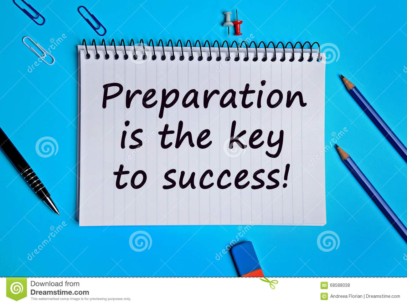 preparation is the key to success stock photo image  preparation is the key to success