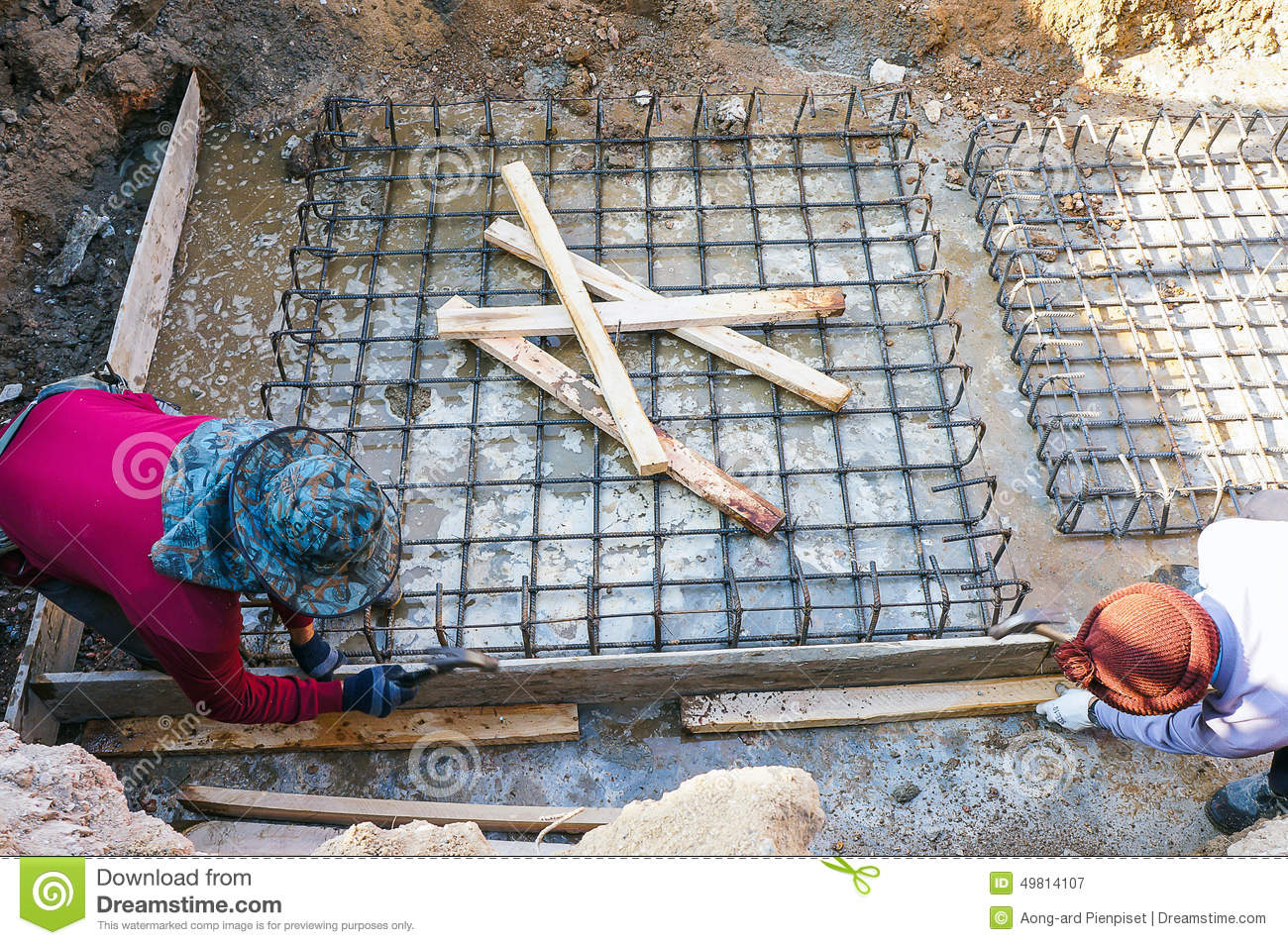 Preparation Of Steel Grating Post Before Pouring The