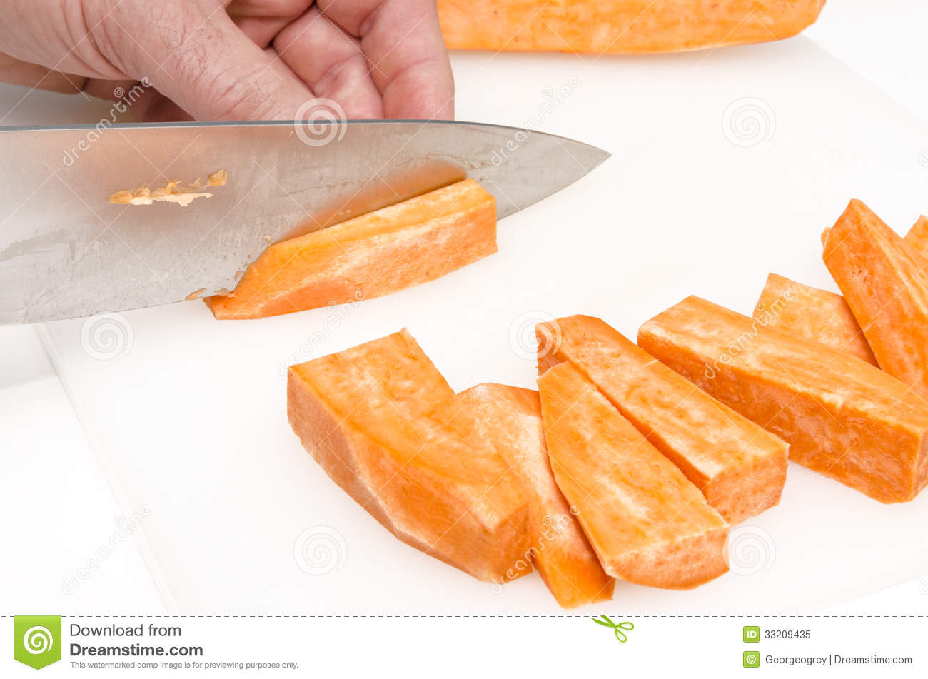 Preparation of sweet potatoe chips 4 royalty free stock for Sweet home 3d chip