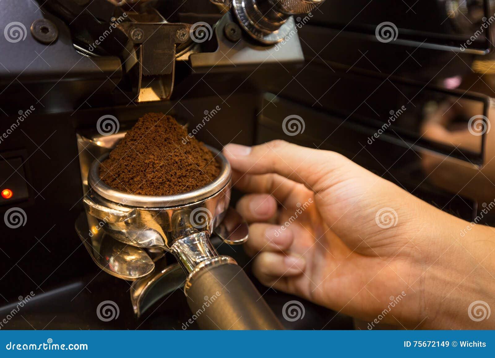 Prepare Espresso Powder Stock Image Image Of Latte Closeup