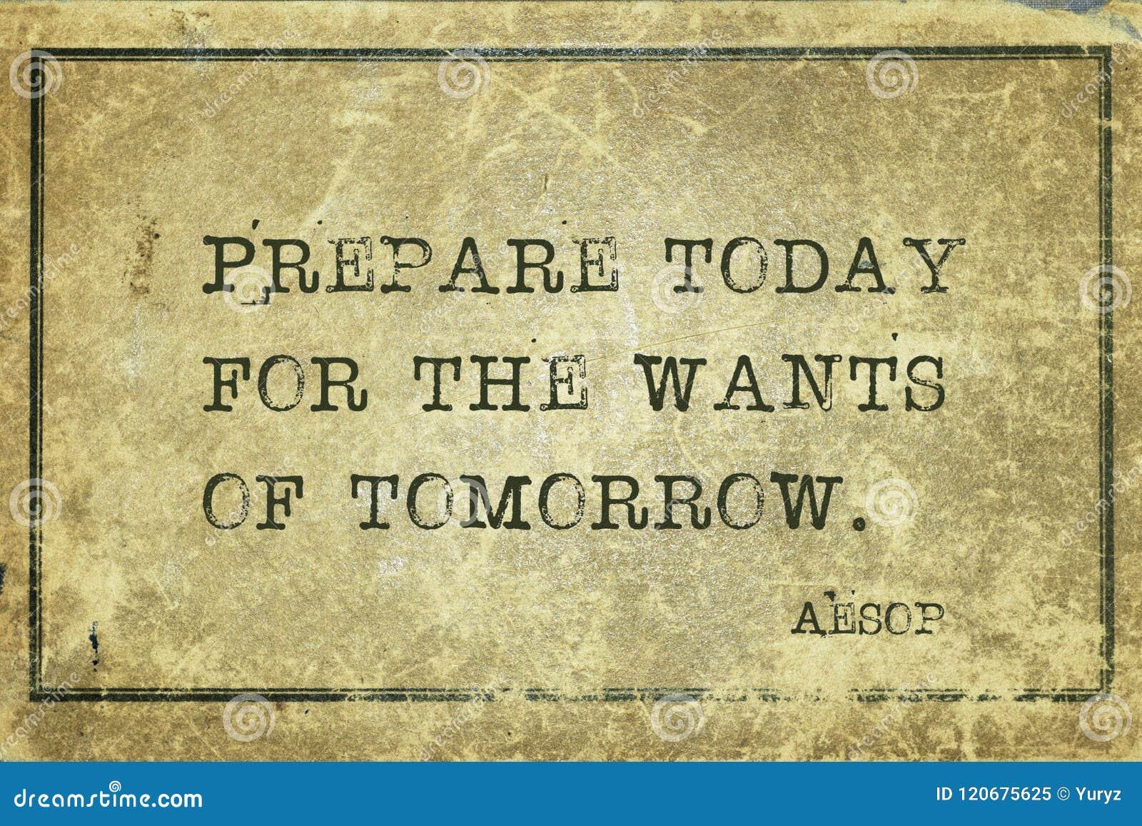 Prepare hoje Esopo