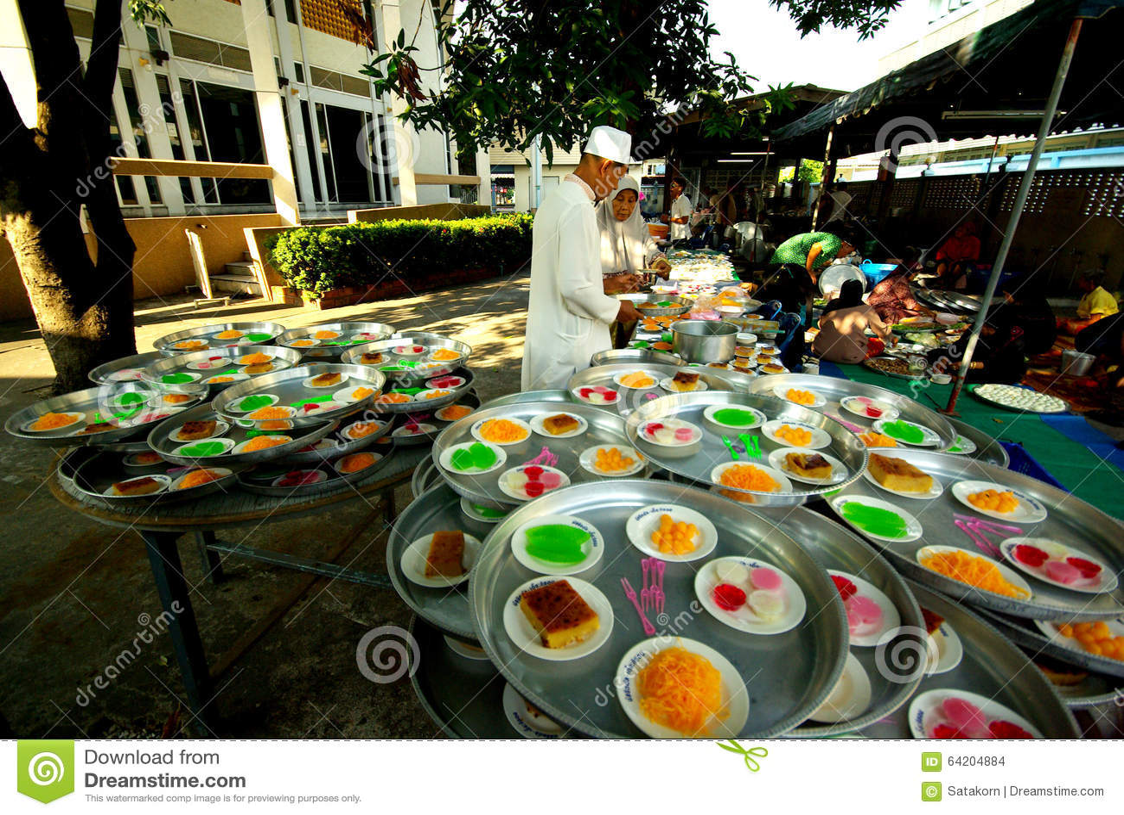 Prepare la comida para la ceremonia de boda