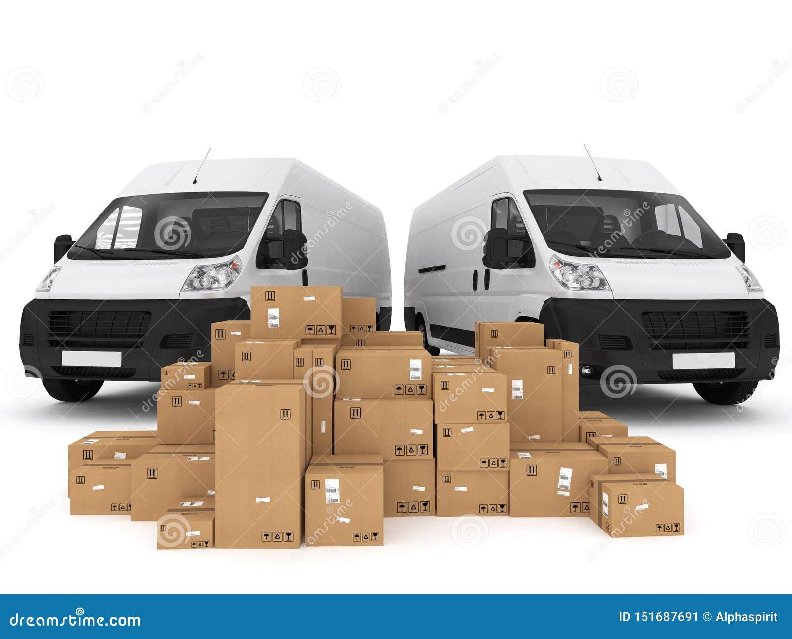 Prepare shipping. 3D Rendering