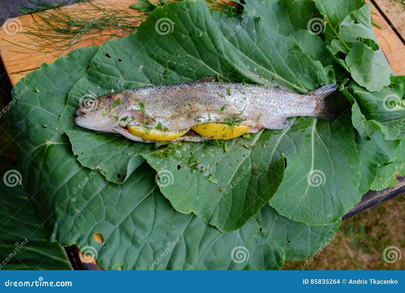 Prepared fresh trout