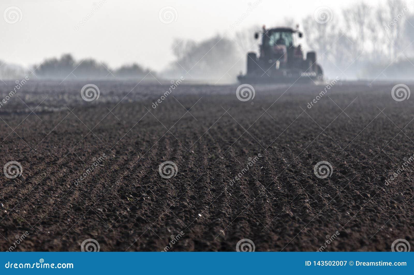 Prepared soil for spring planting