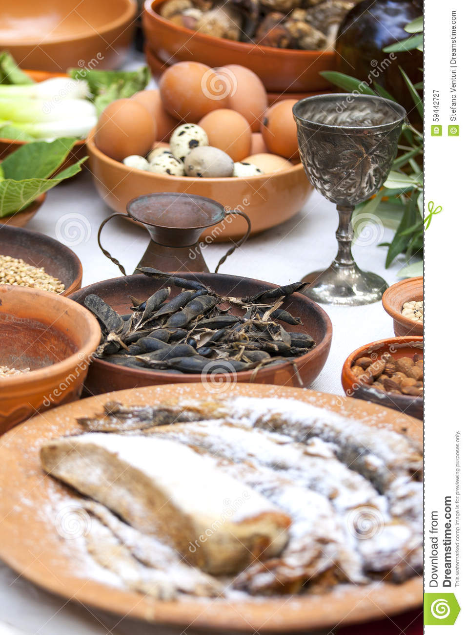 Preparing ancient roman food stock photo image 59442727 for Ancient roman cuisine