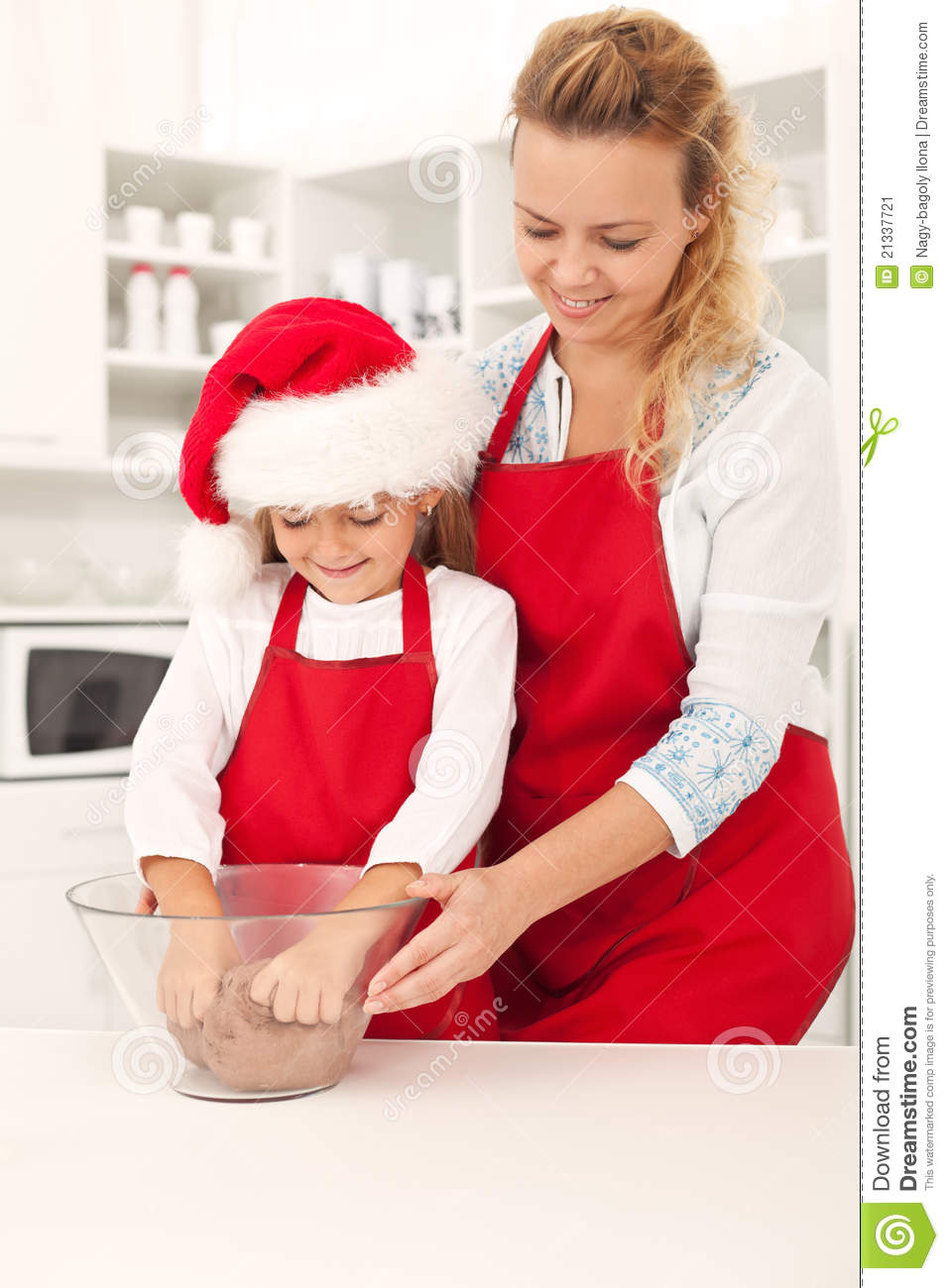 Preparing the cookie dough at christmas time