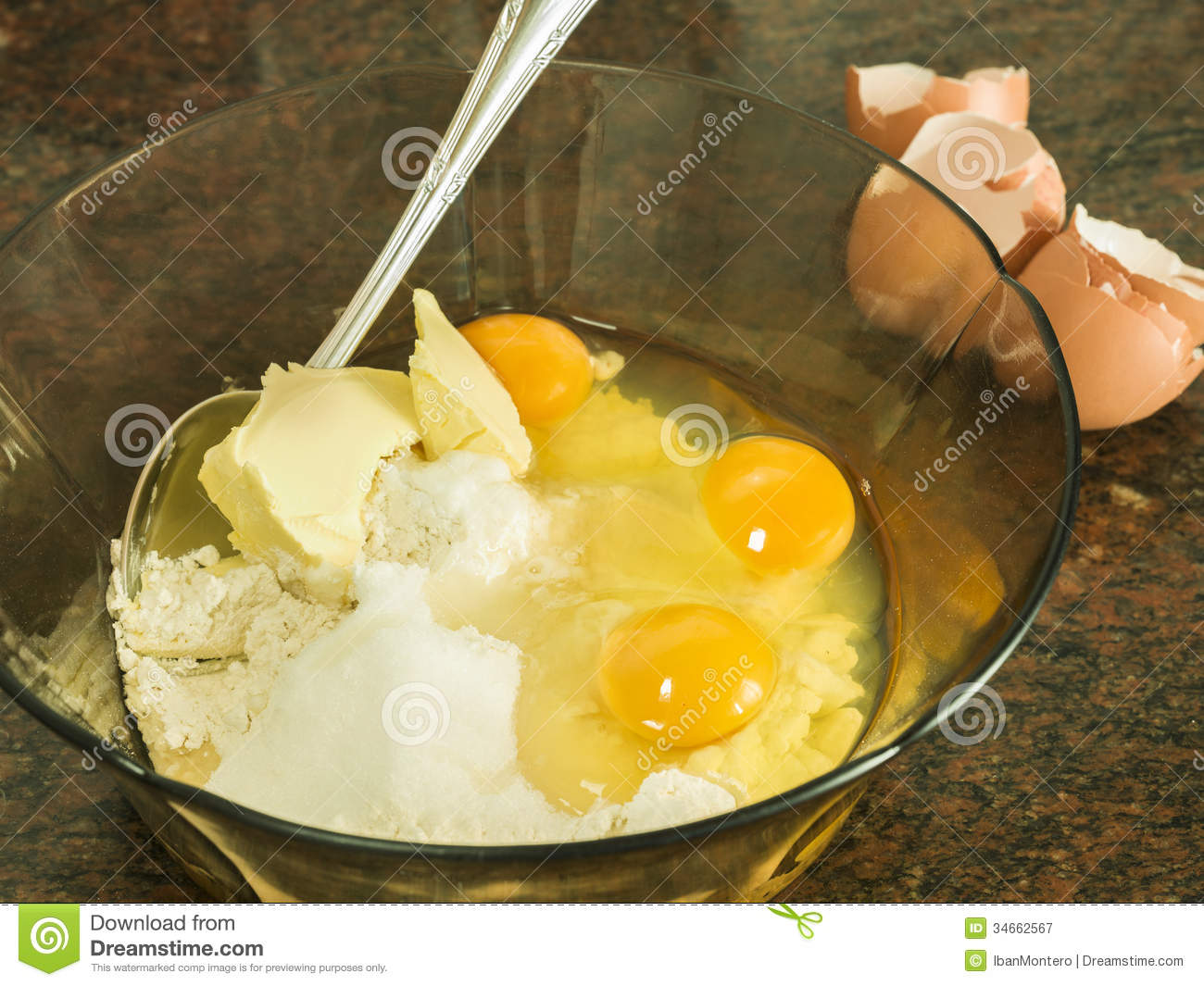 Preparing Dessert Stock Image Image Of Making Fresh