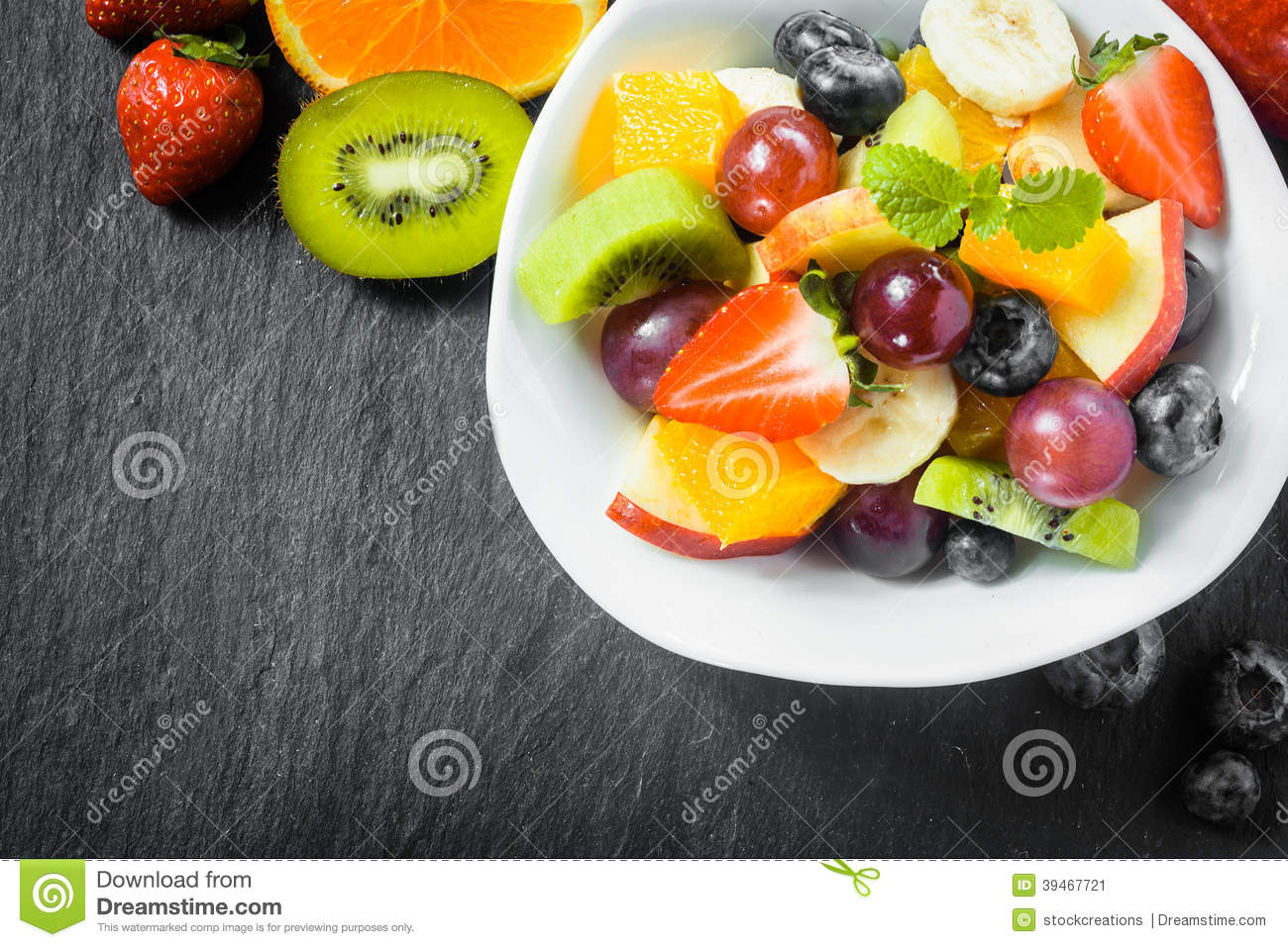 fresh fruit healthy fruit salad for breakfast