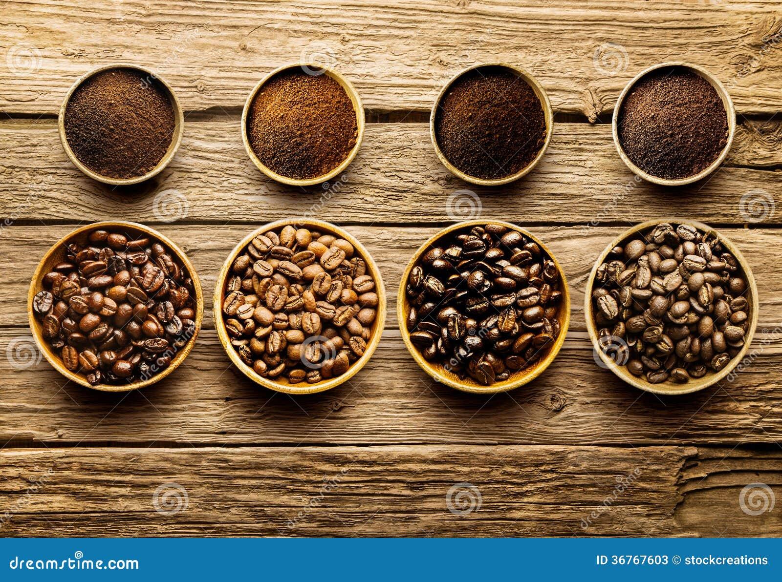 Preparing fresh roast coffee beans to brew