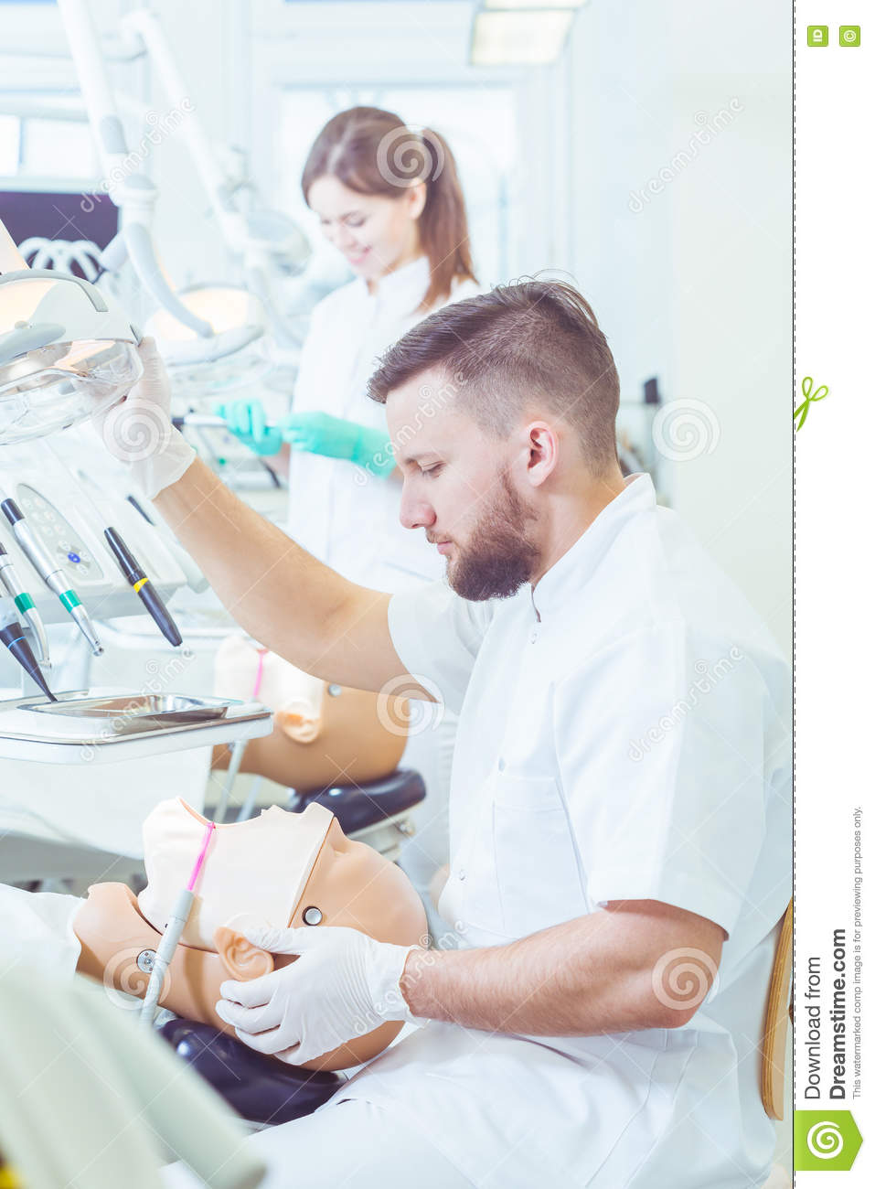 Preparing For His First Real-life Dental Procedure Stock Image
