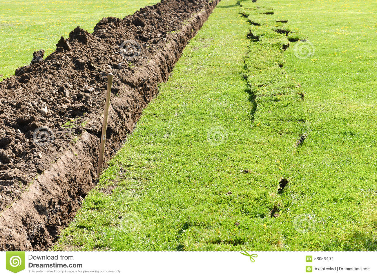 Deep dirt hole in ground royalty free stock photo for Digging ground dream meaning