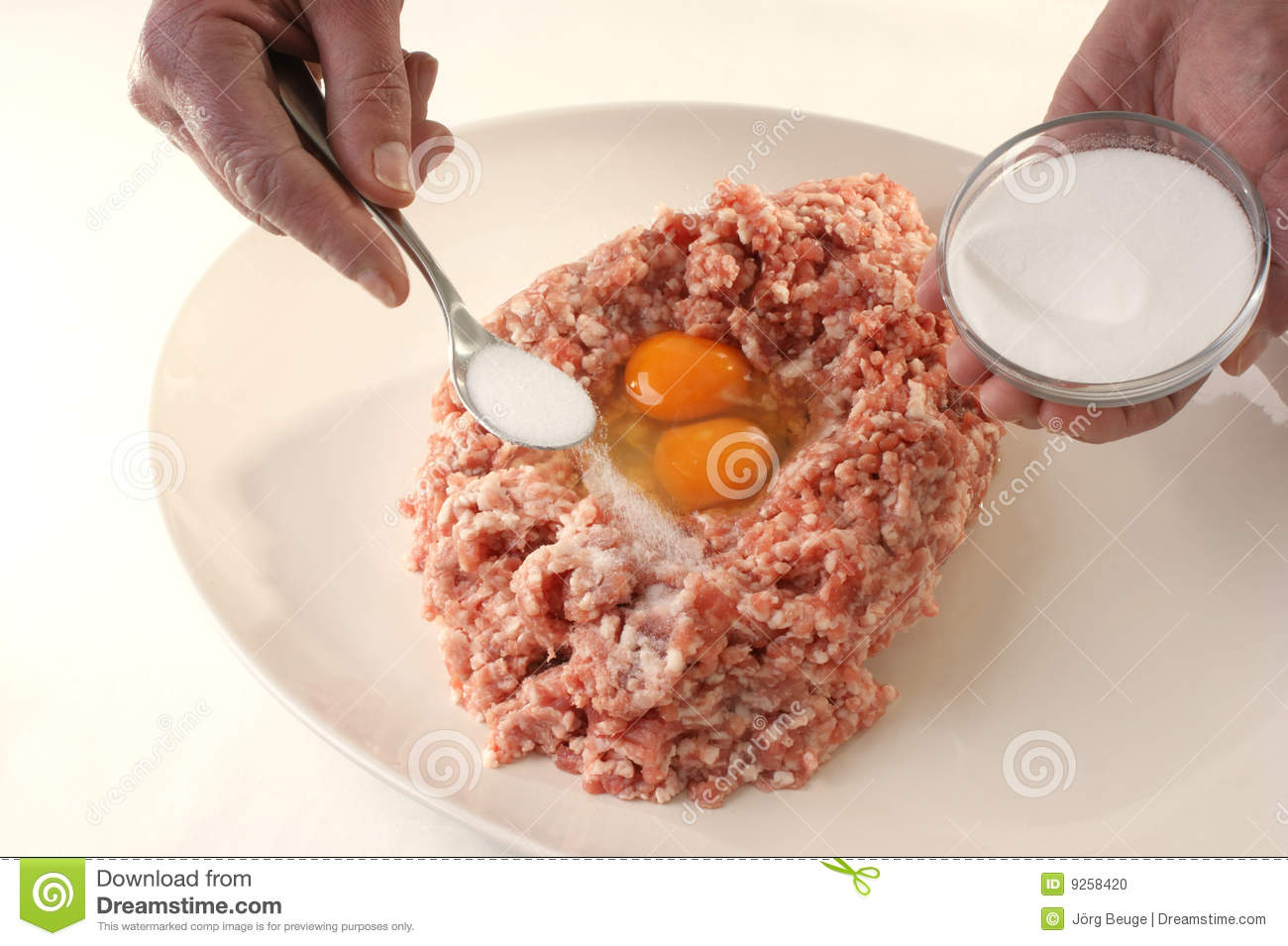 Preparing Mince To Make Meatballs Stock Photo Image Of Freshness