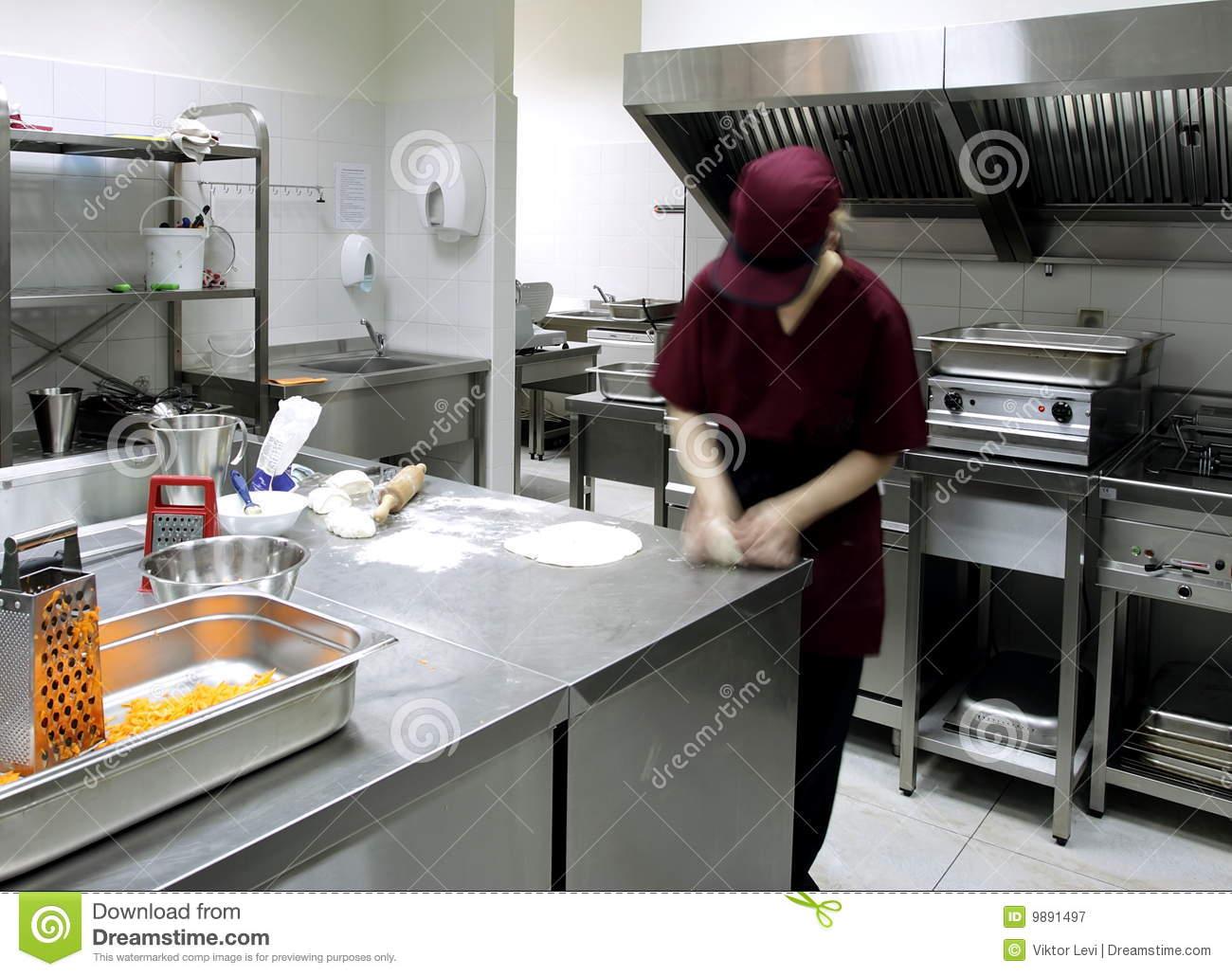 Preparing Pastry In A Restaurant Kitchen Stock Image Image Of Food