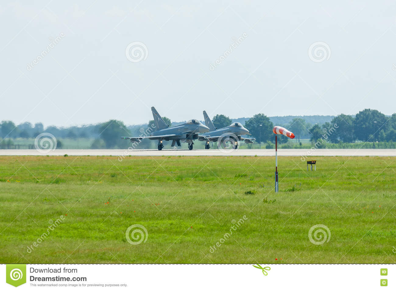 Preparing For Takeoff Multirole Fighter Eurofighter Typhoon