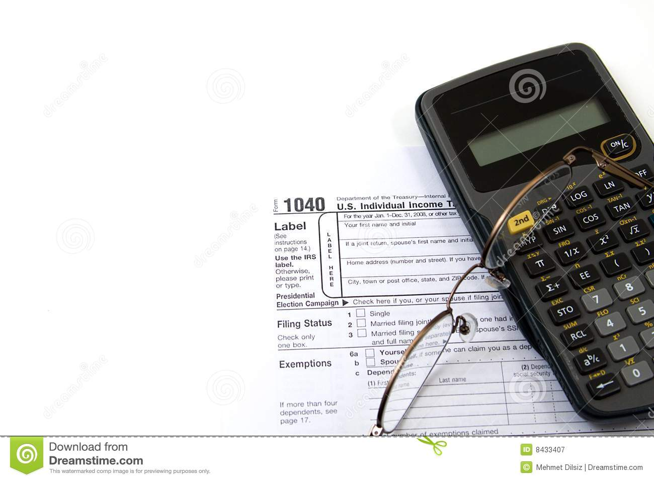 Preparing Taxes Stock Image Image Of Government Finance 8433407