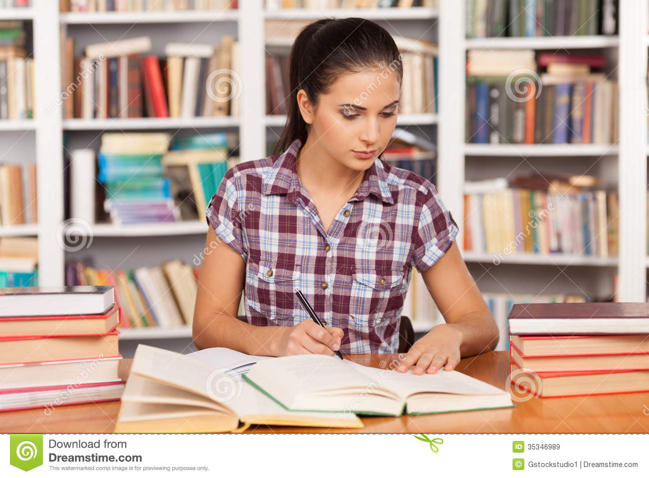 Preparing To The Exams Royalty Free Stock Images Image