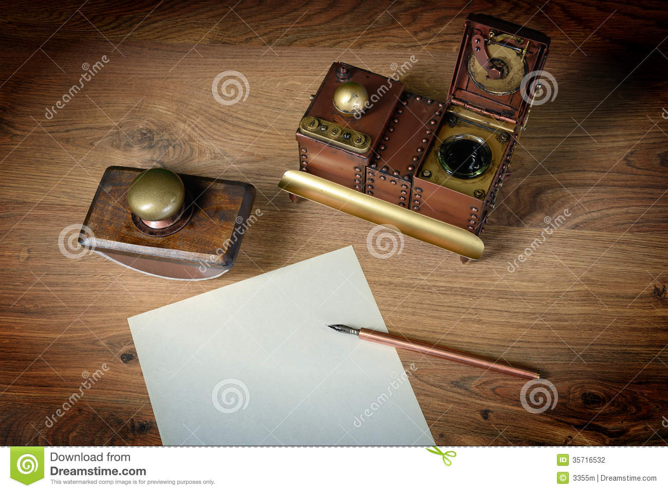 preparing to write a letter