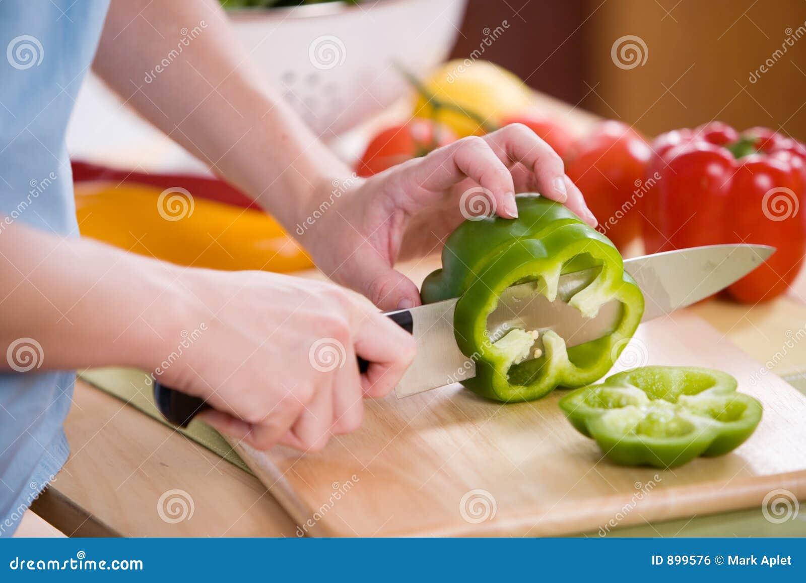 Preperation sałatkę