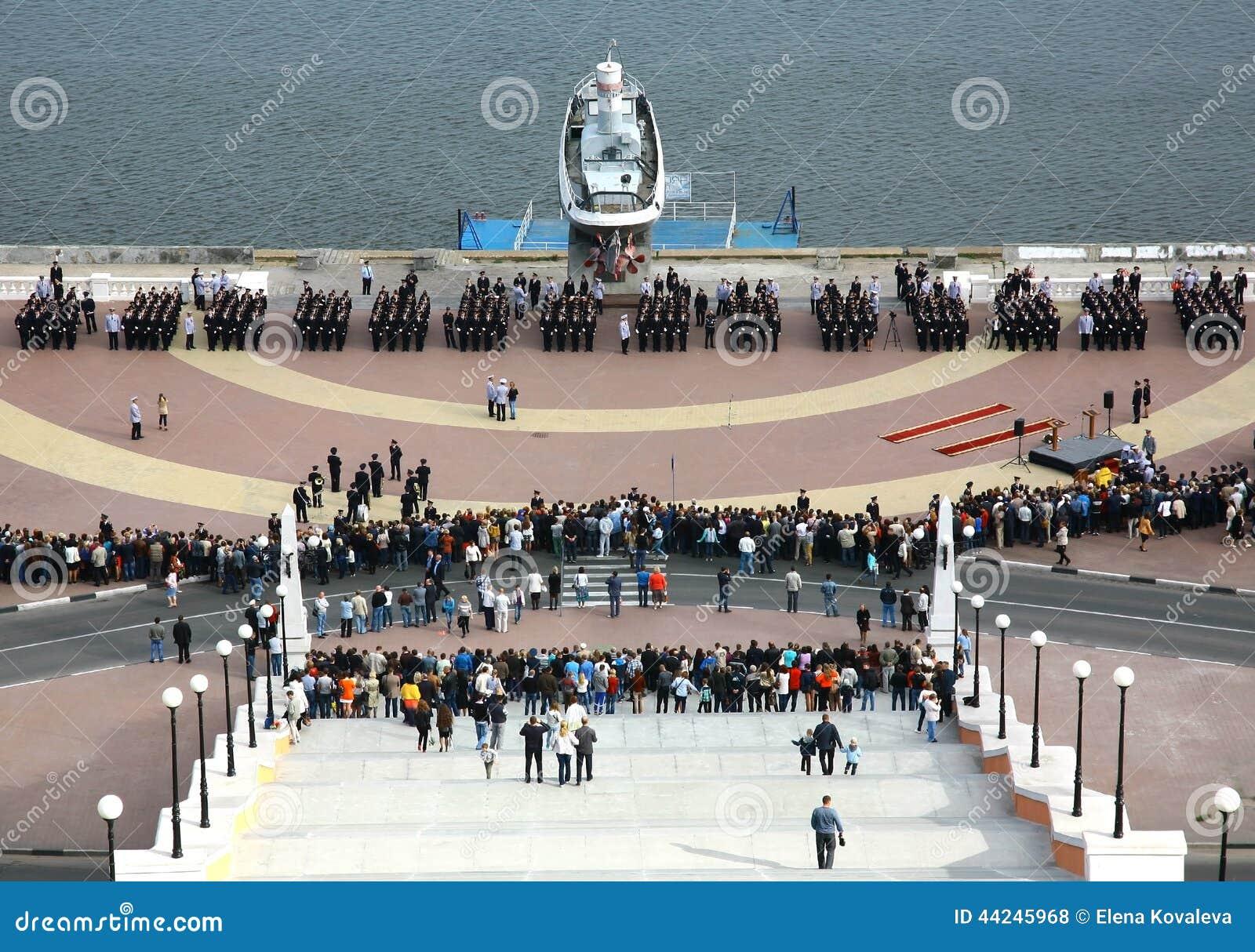 Presa del giuramento dei cadetti dell Accademia di Polizia di Nižnij Novgorod