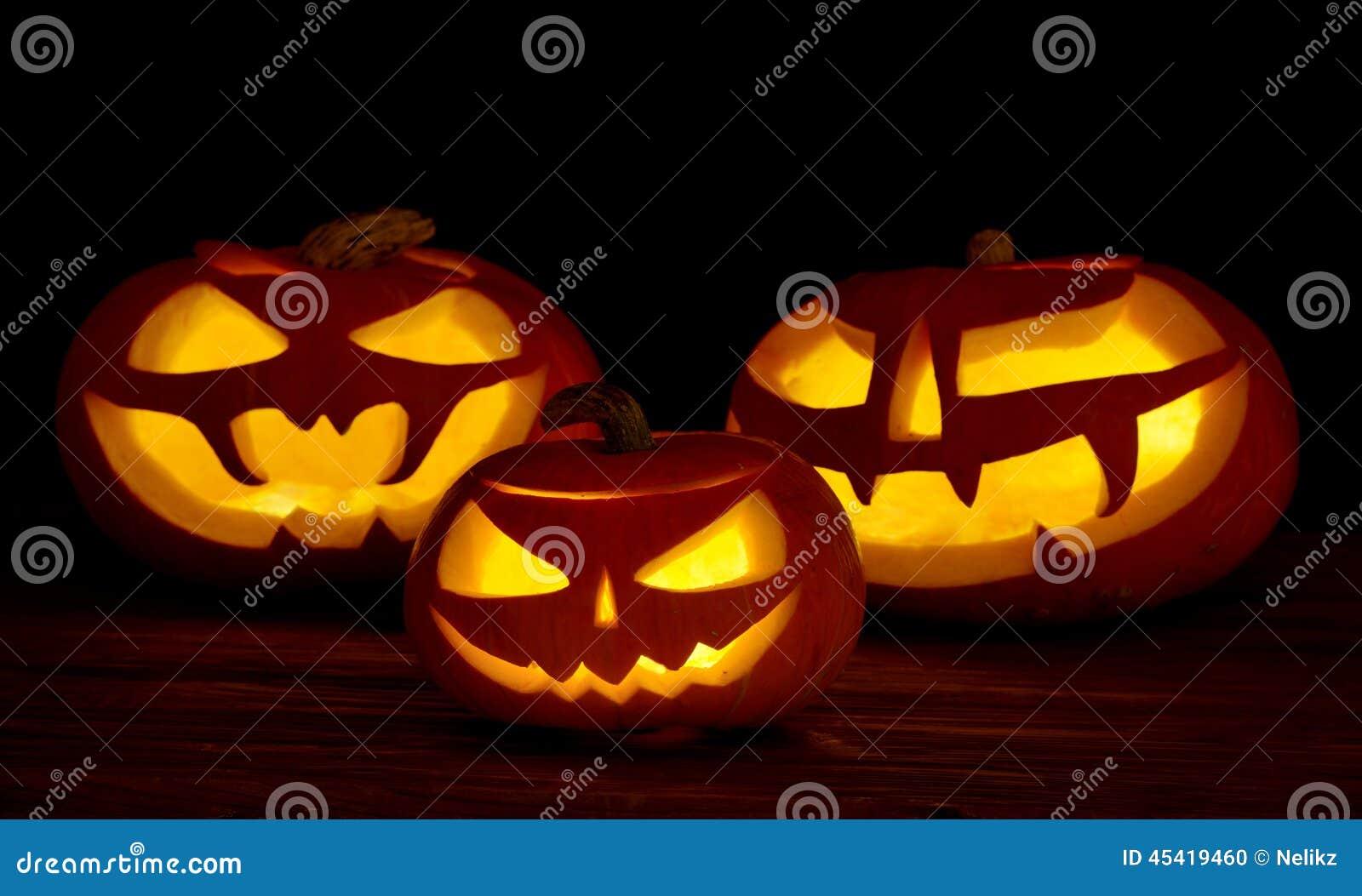 Presa o lanterna spaventosa delle zucche di halloween for Foto zucche halloween