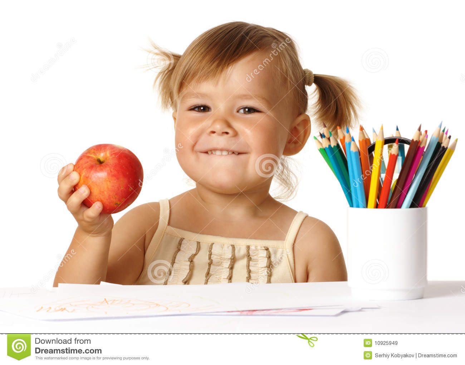 Preschool ребенка счастливый