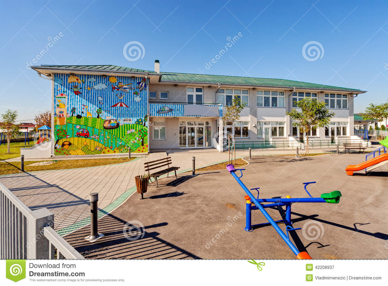 Preschool Building Editorial Photography - Image: 42208937