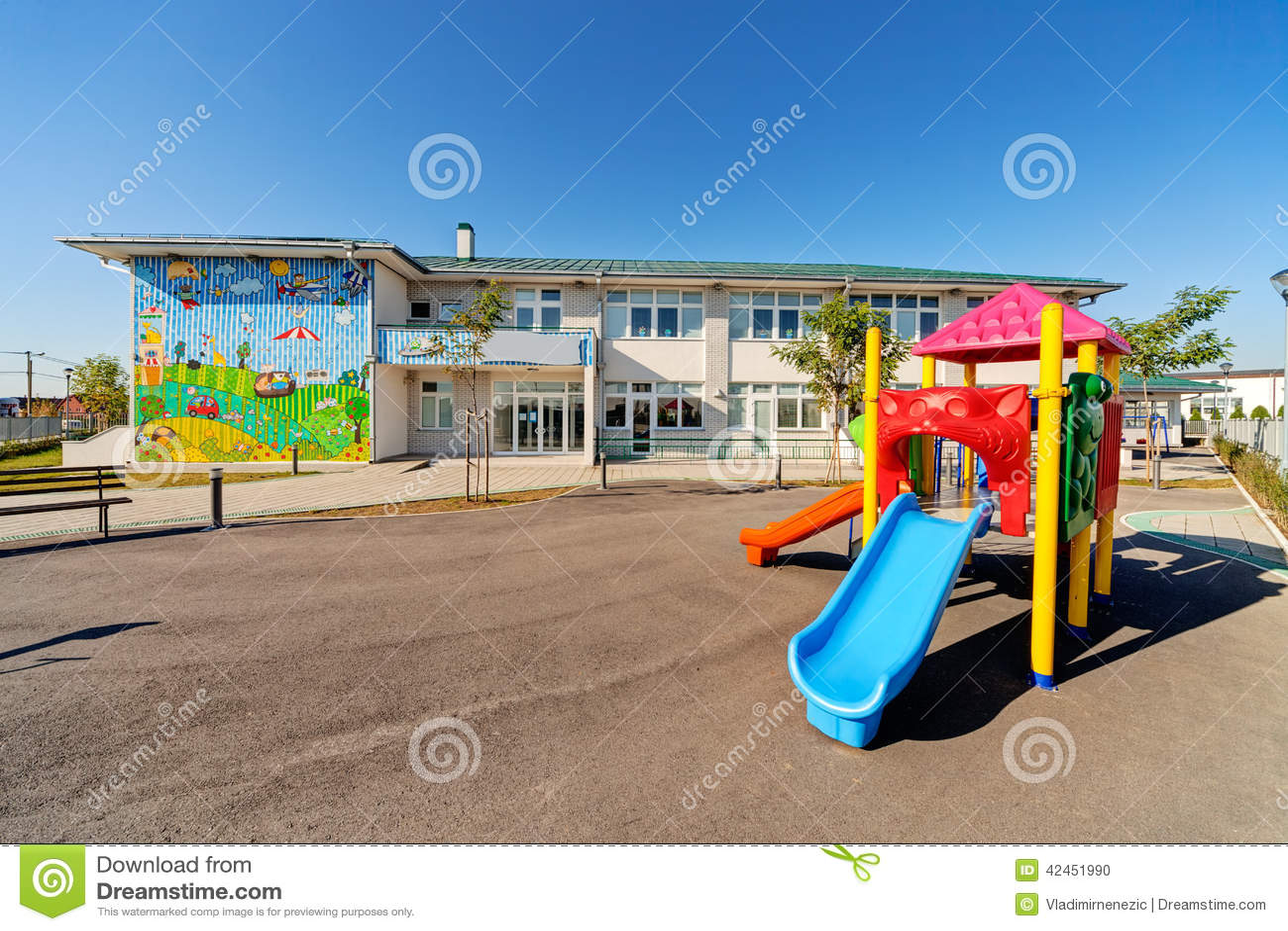 Preschool Building Stock Photo Image 42451990