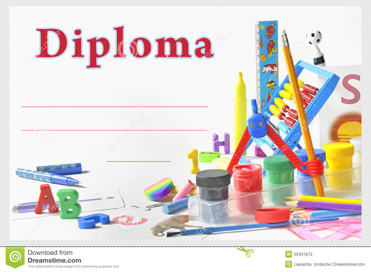Preschool Diploma Stock Photography Image 25341872