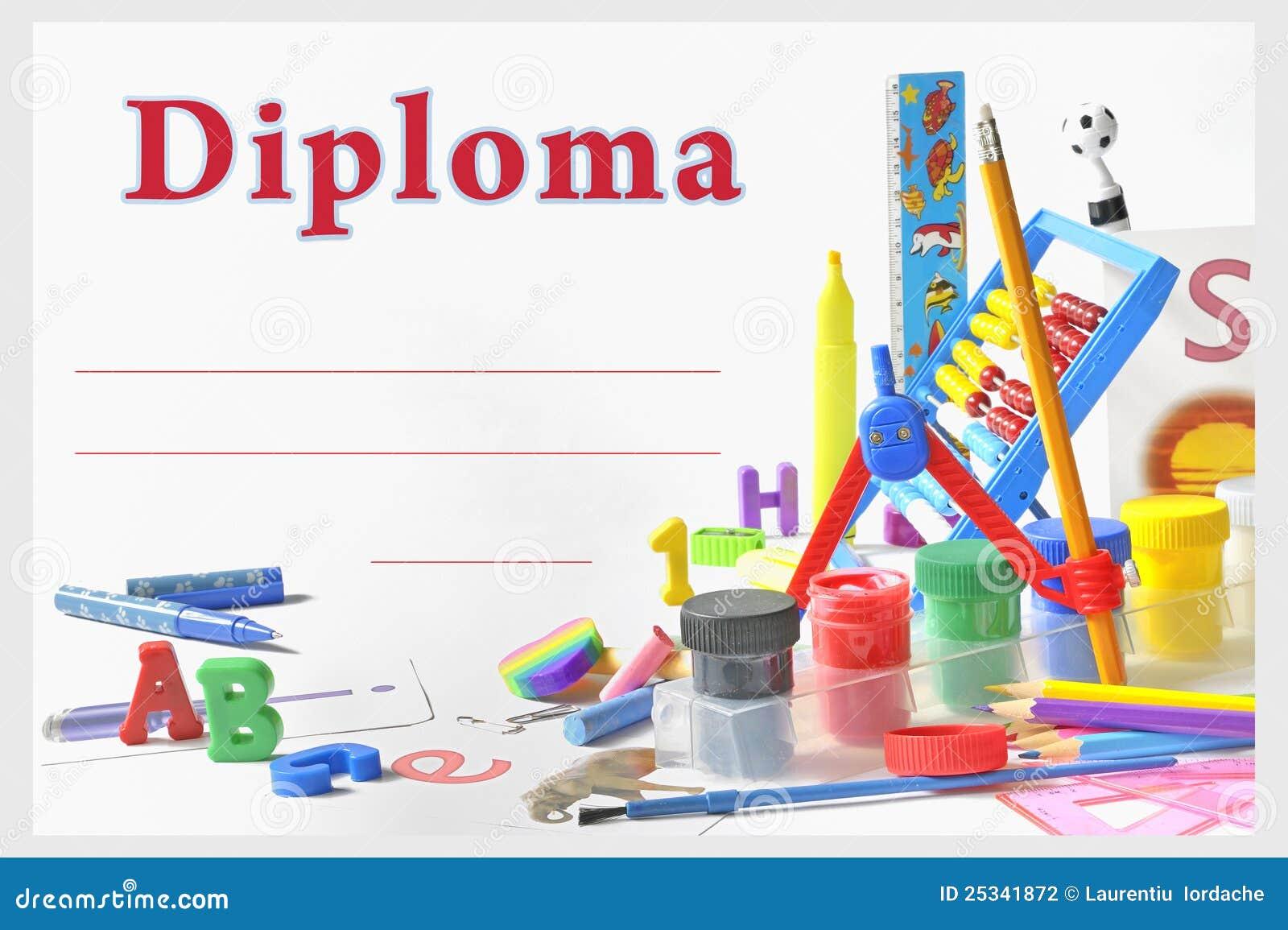 Preschool Diploma Stock Illustration Illustration Of