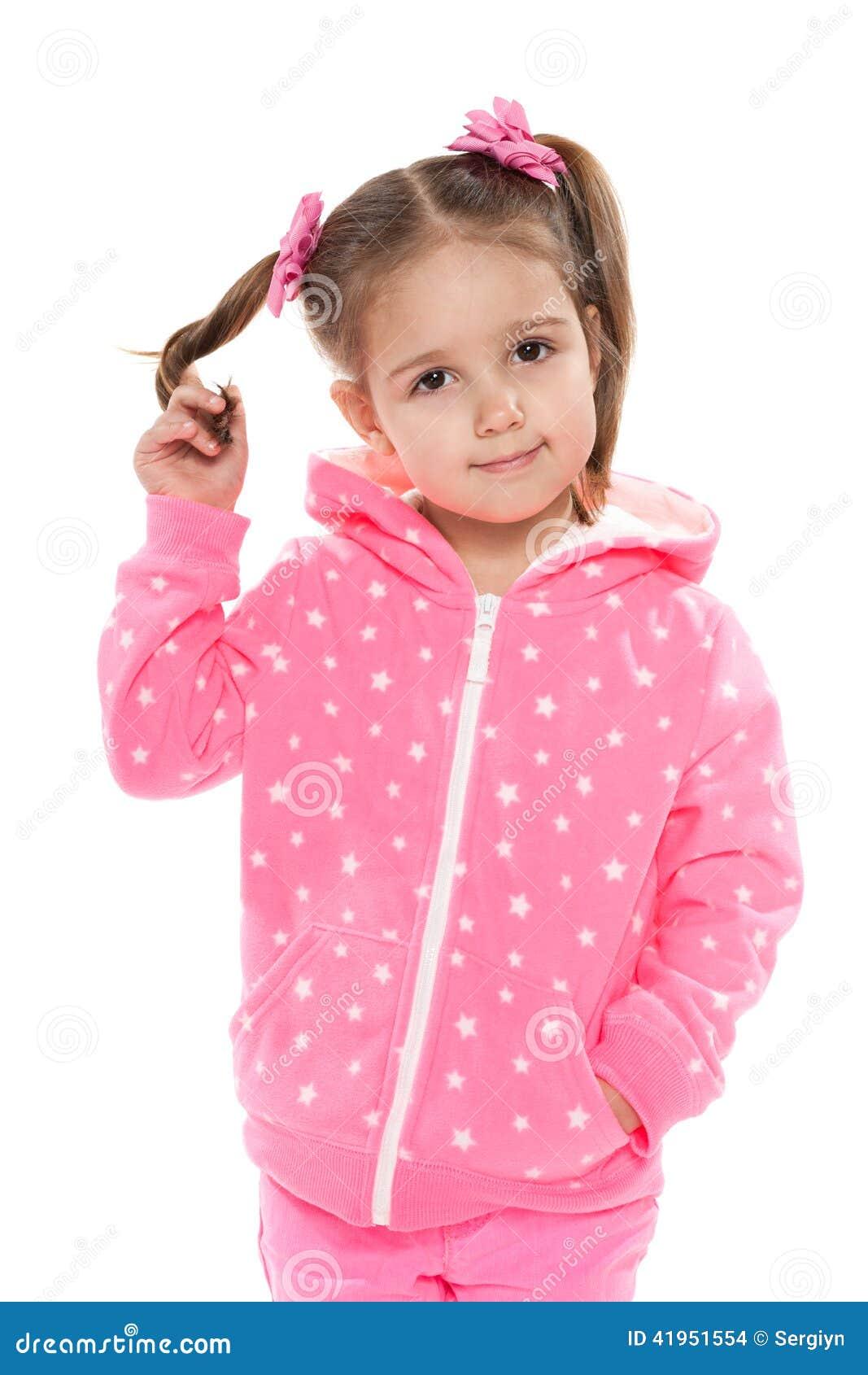Preschool dziewczyna przeciw bielowi