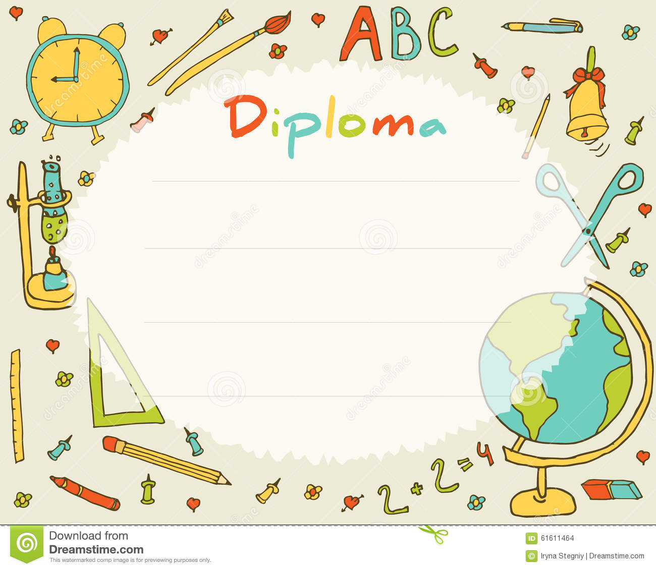 Elementary diploma certificate template yadclub Image collections