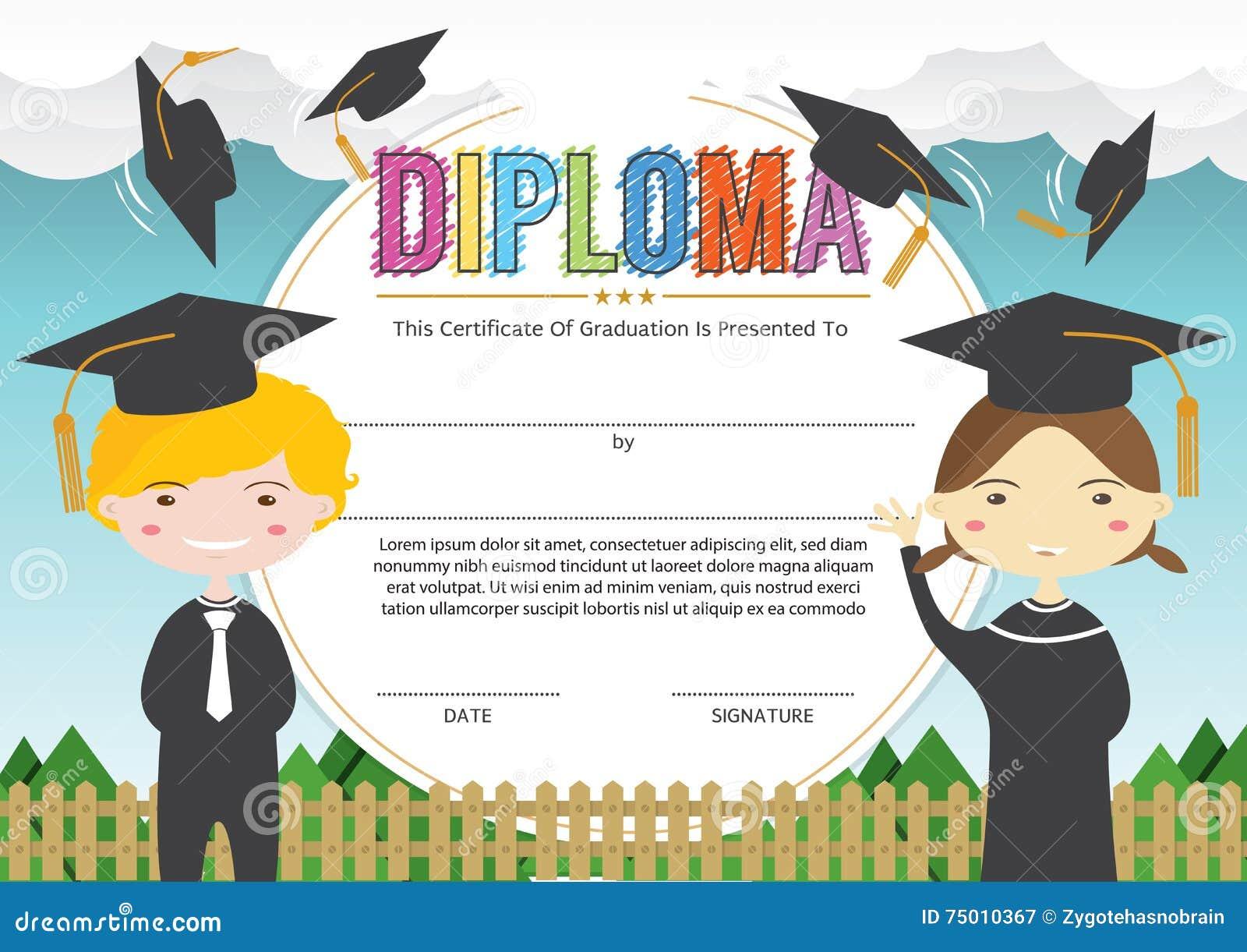 certificates kindergarten and elementary  preschool kids