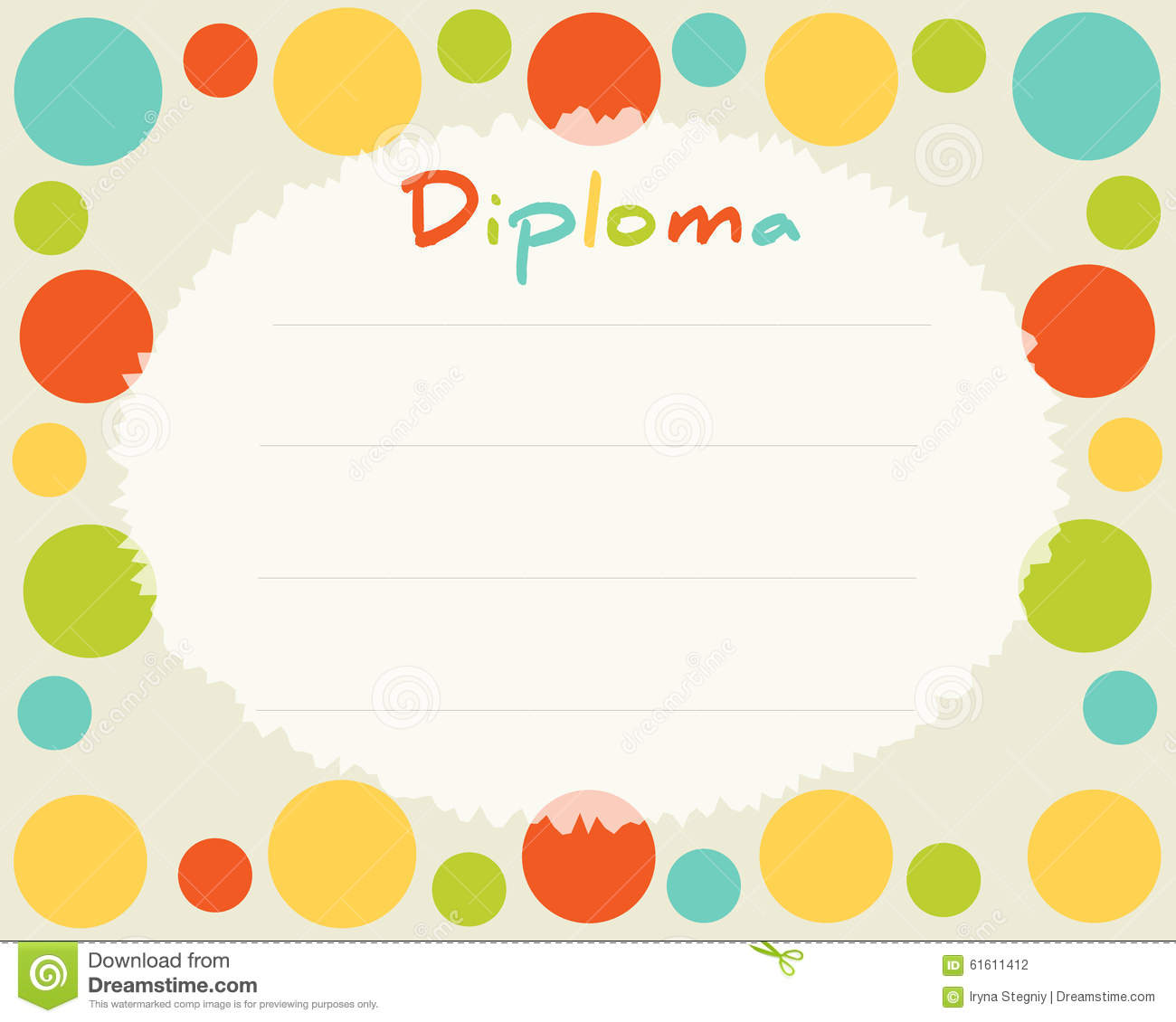 preschool elementary school kids diploma certificate background  preschool elementary school kids diploma certificate background
