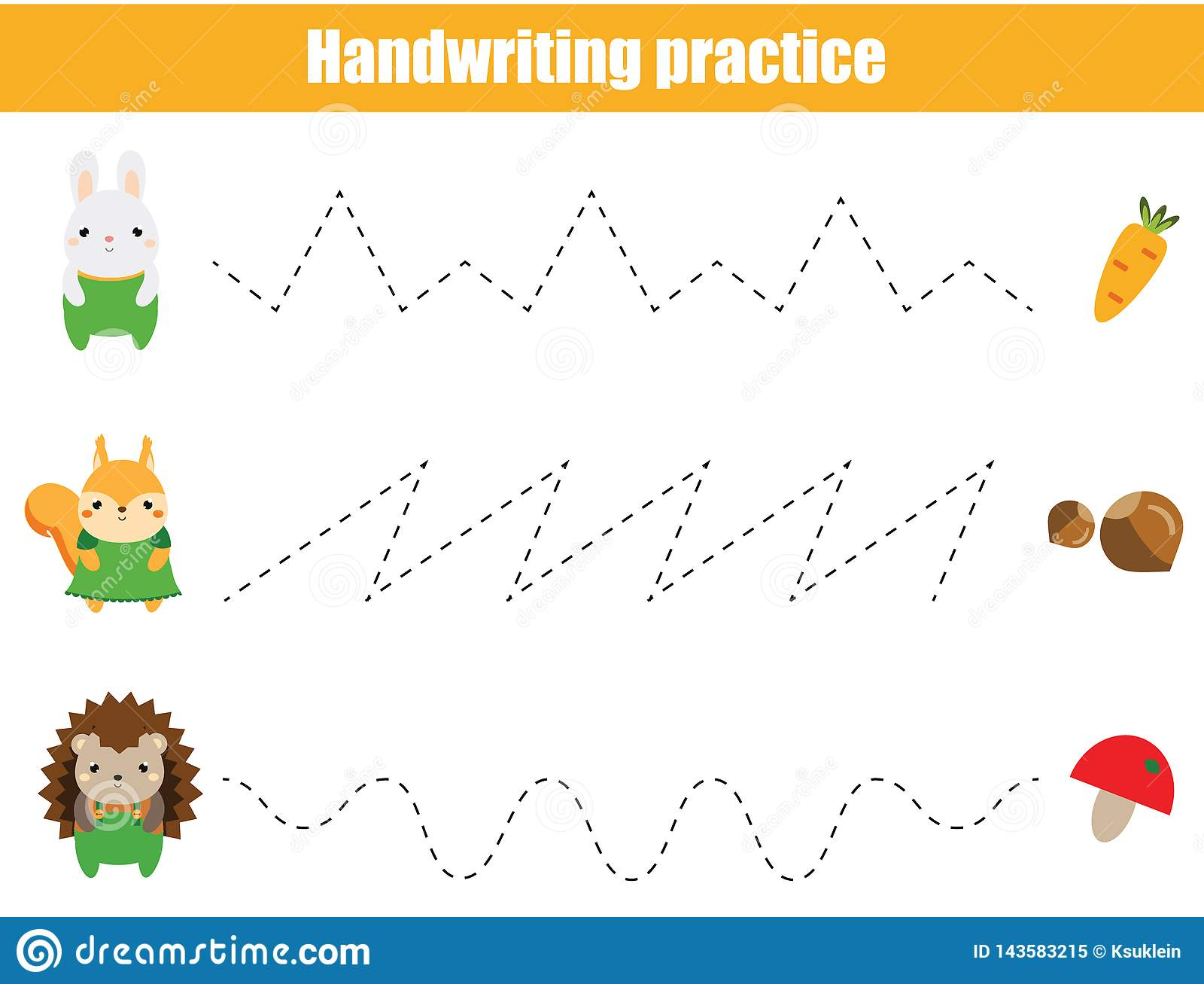 Preschool Handwriting Practice Sheet. Educational Children ...