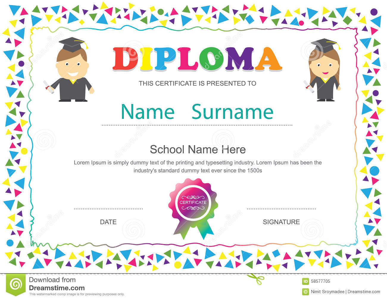 Beautiful kids certificate templates gallery entry level resume preschool certificates templates free besikeighty3 yadclub Choice Image