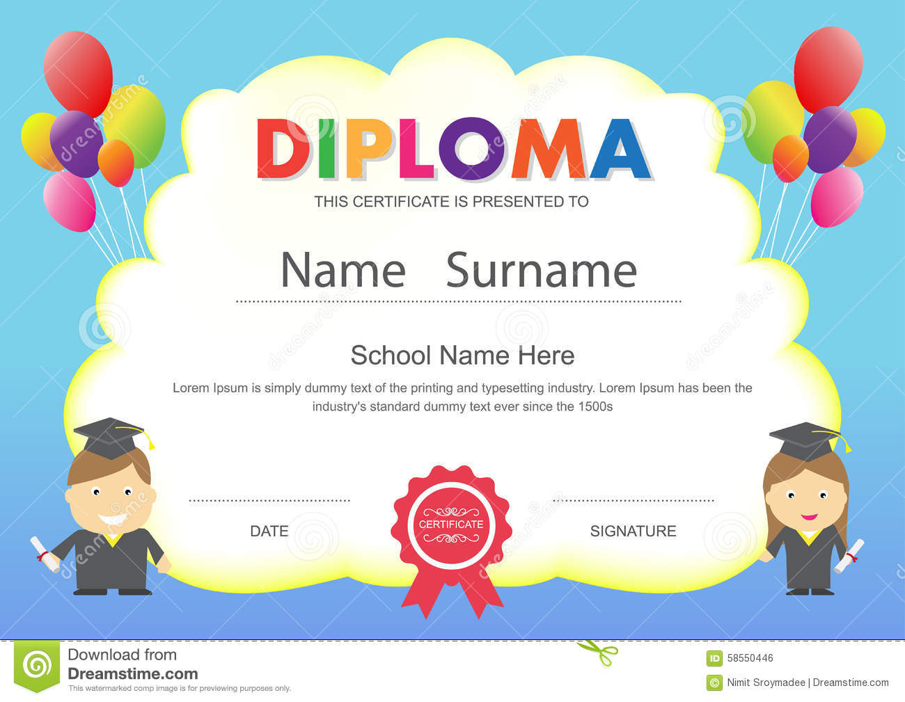 Kids certificate template jeppefm kids certificate template yadclub Image collections