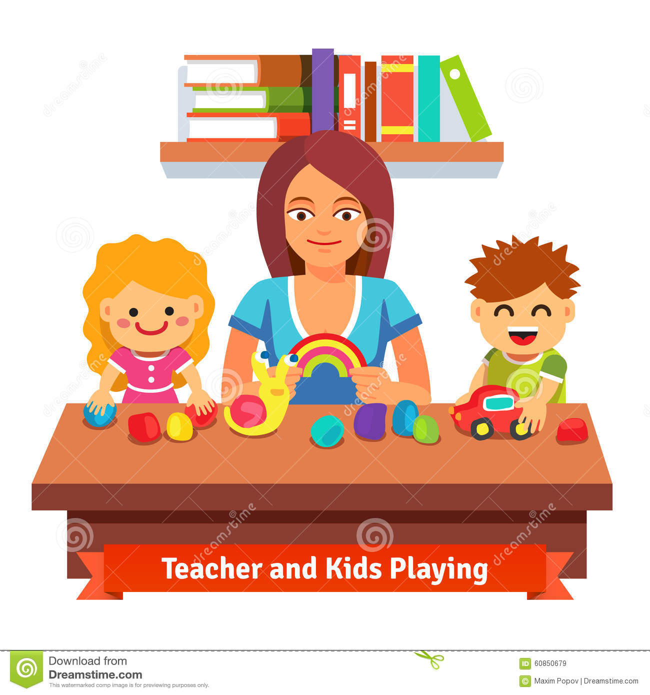 Preschool Learning And Education Stock Vector Image