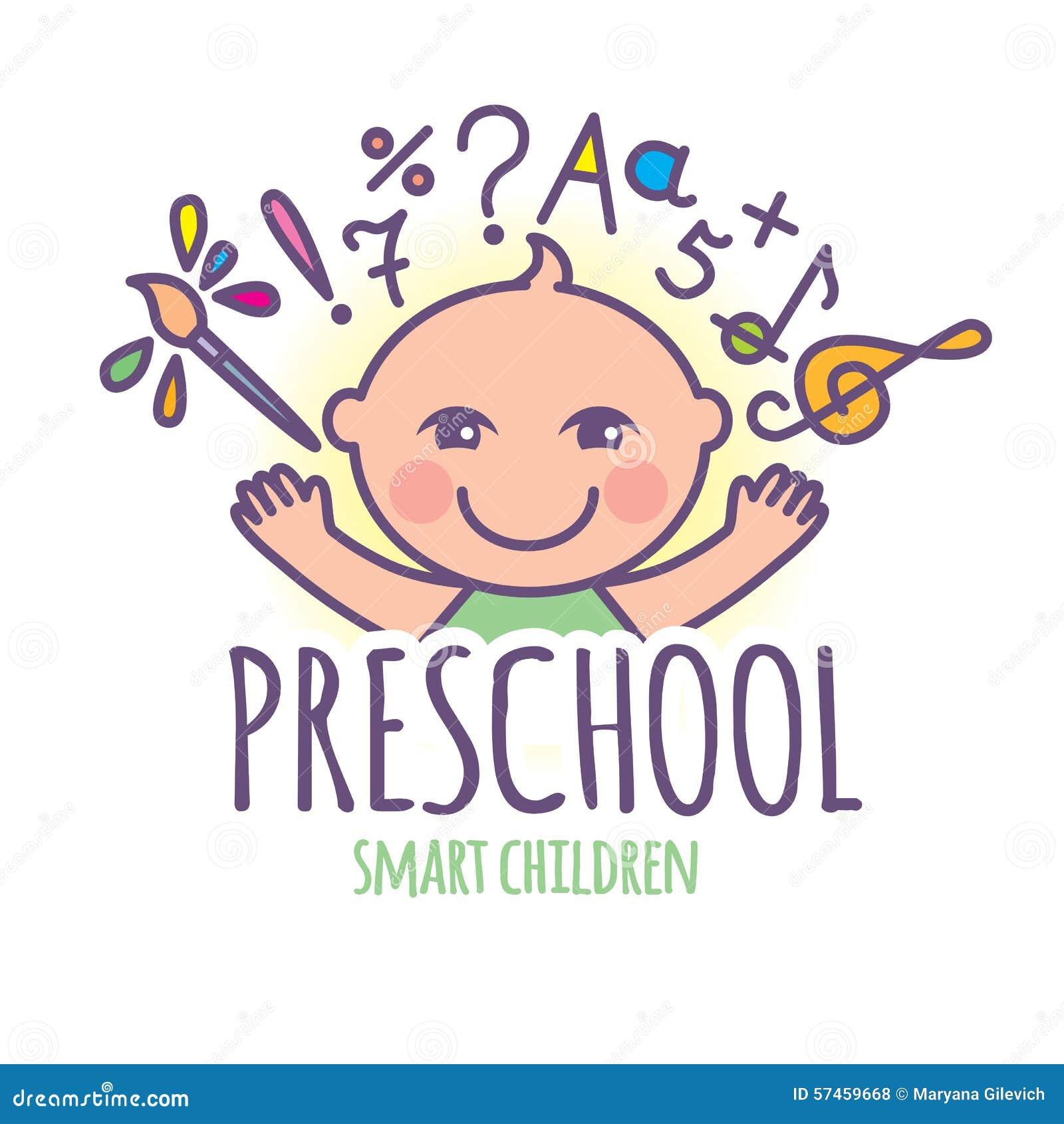 preschool logos preschool logo stock vector image of children 110